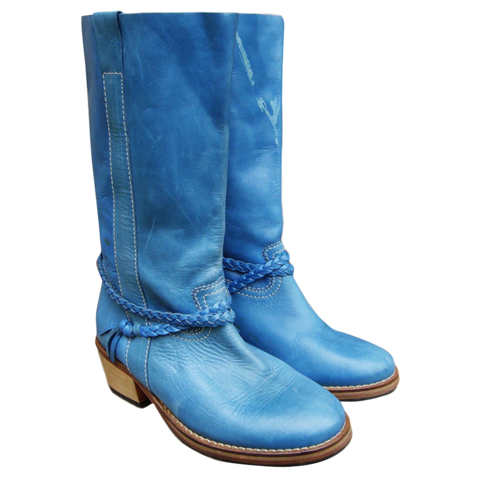 Bottes plates SESSUN Bleu, bleu marine, bleu turquoise