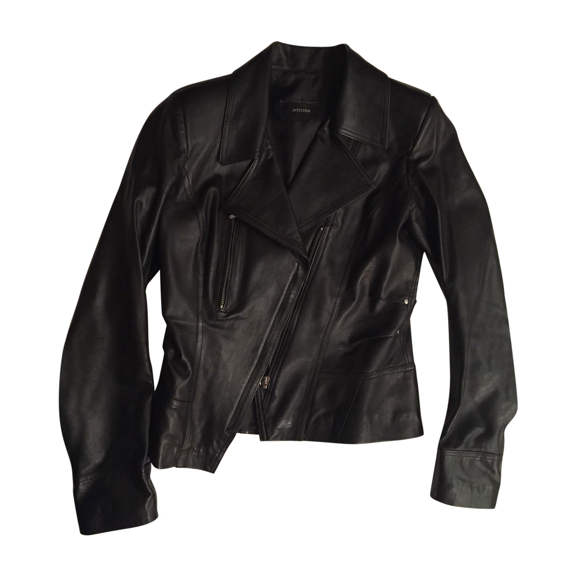 Veste en cuir INTUITION Noir