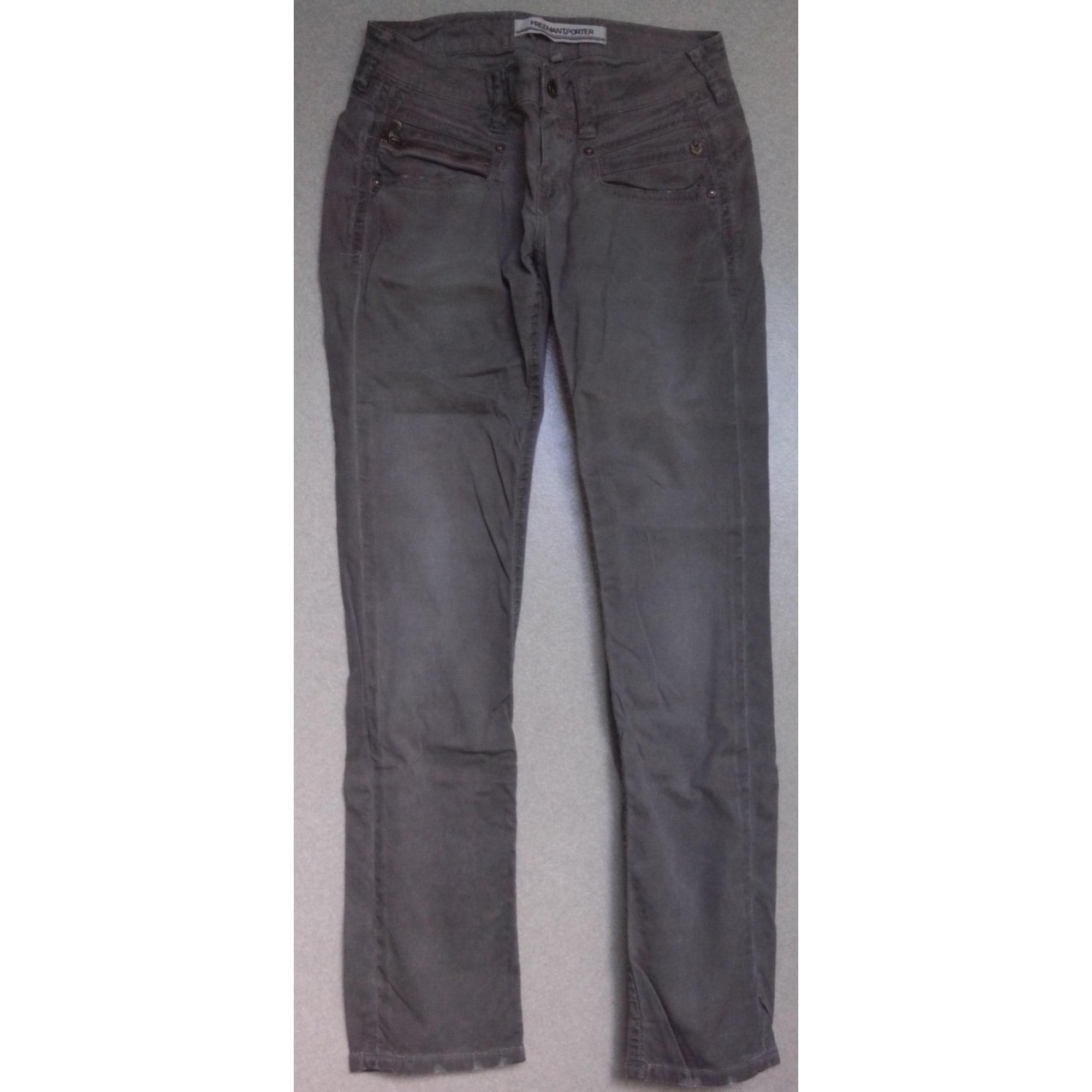 Pantalon droit FREEMAN T PORTER Kaki