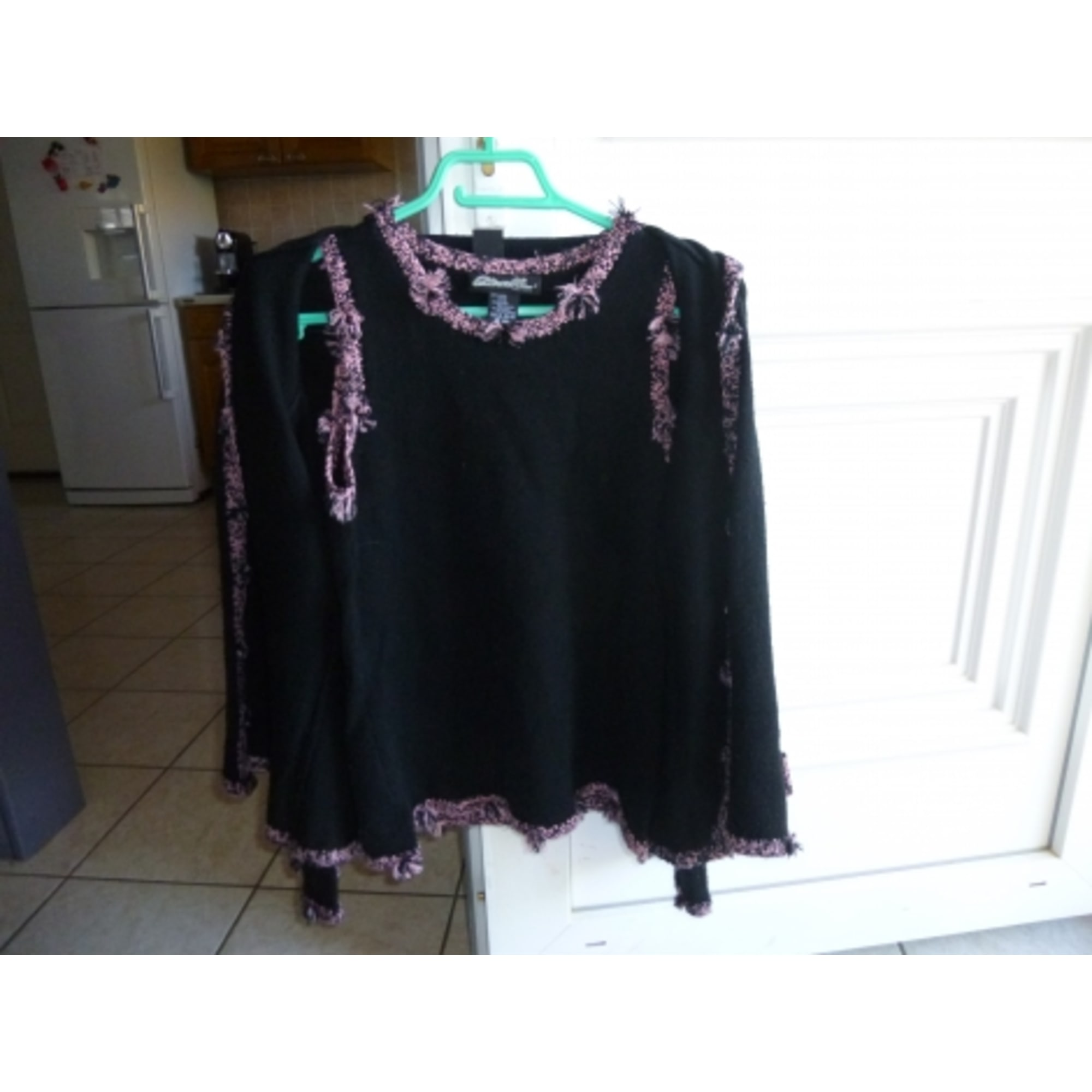 Top, tee-shirt ETINCELLE Noir