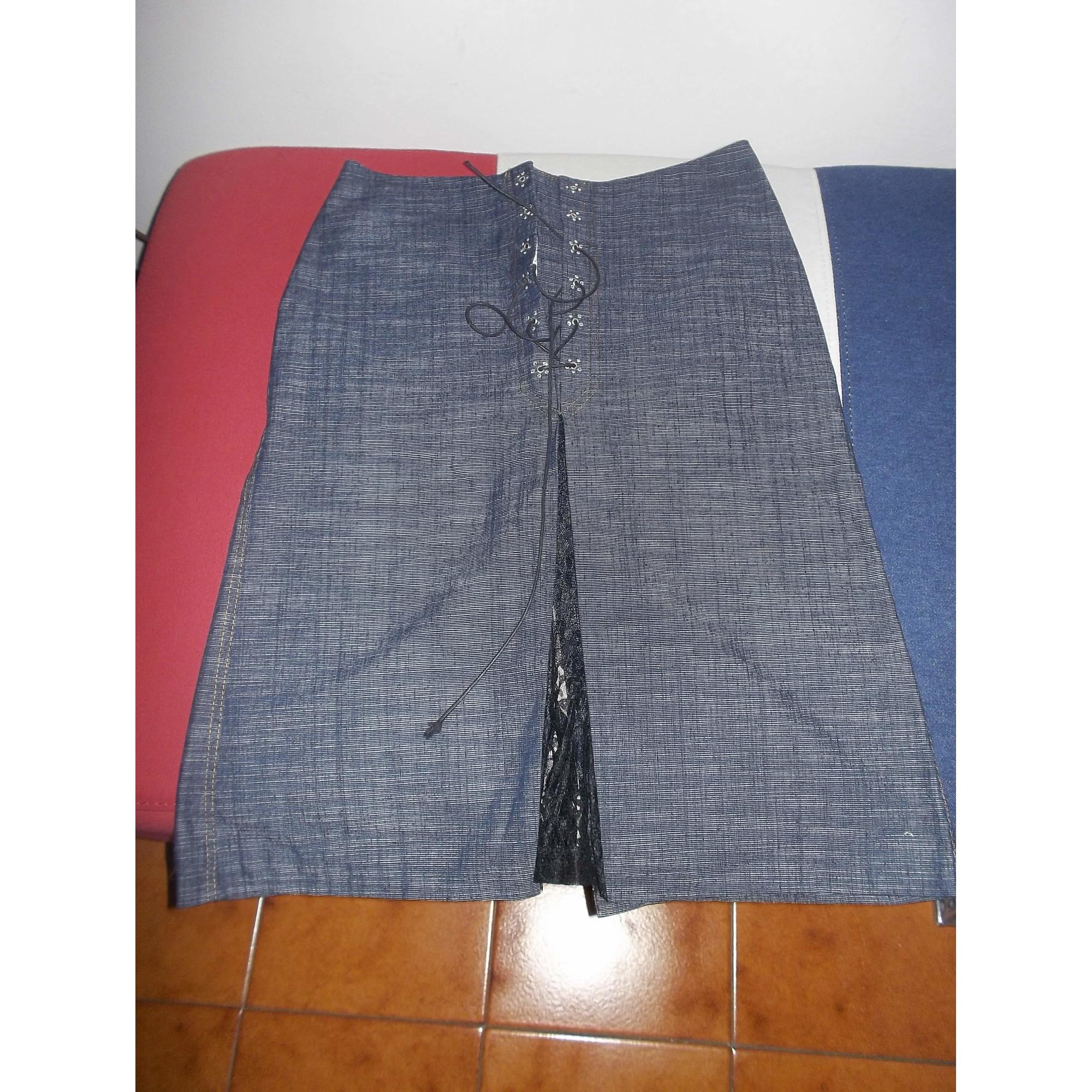 Jupe en jean NAF NAF Bleu, bleu marine, bleu turquoise