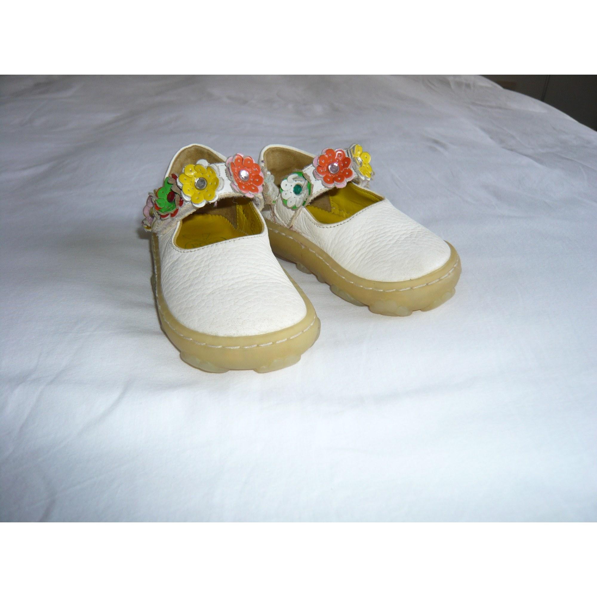 Chaussures à scratch POM D'API Blanc, blanc cassé, écru
