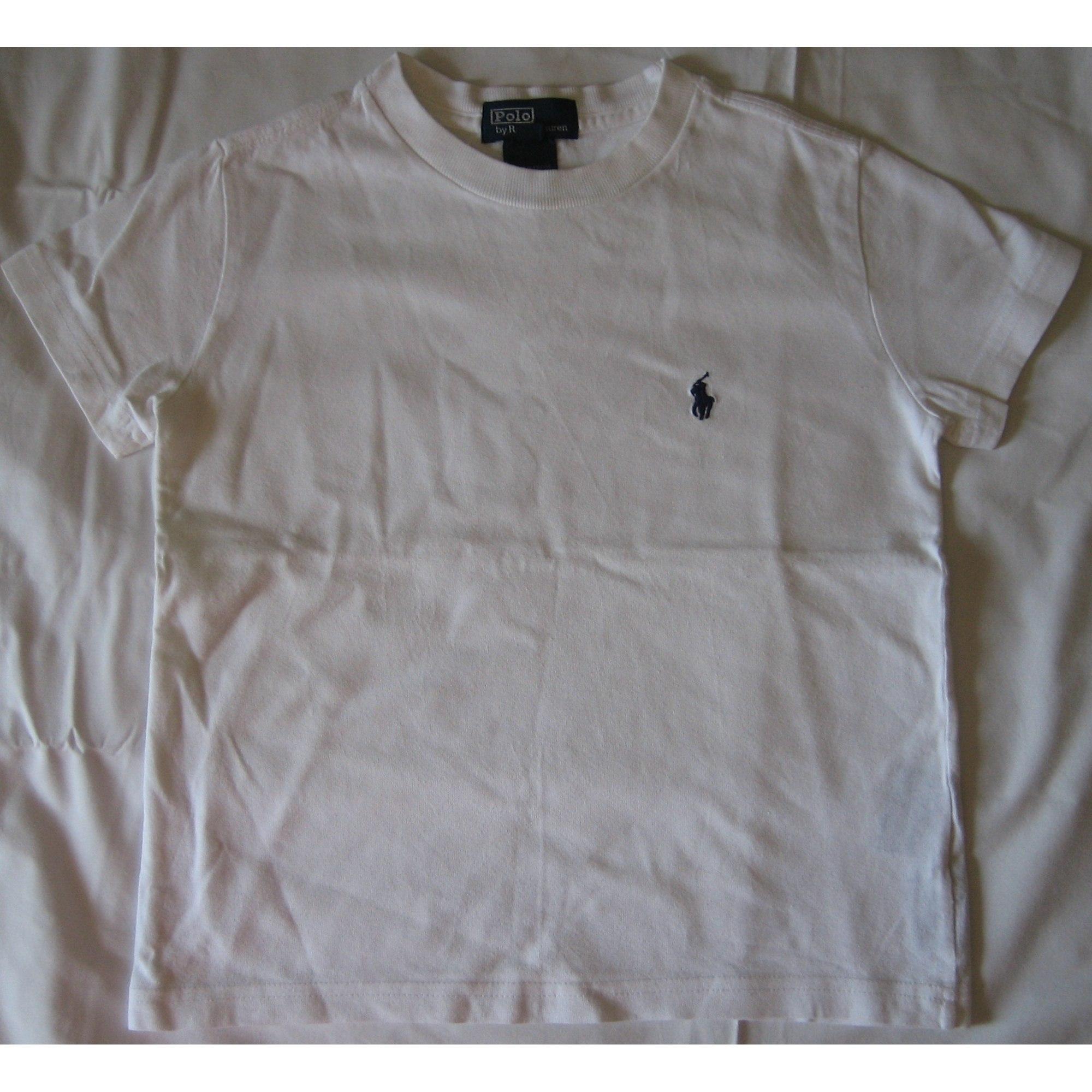 Tee-shirt RALPH LAUREN Blanc, blanc cassé, écru