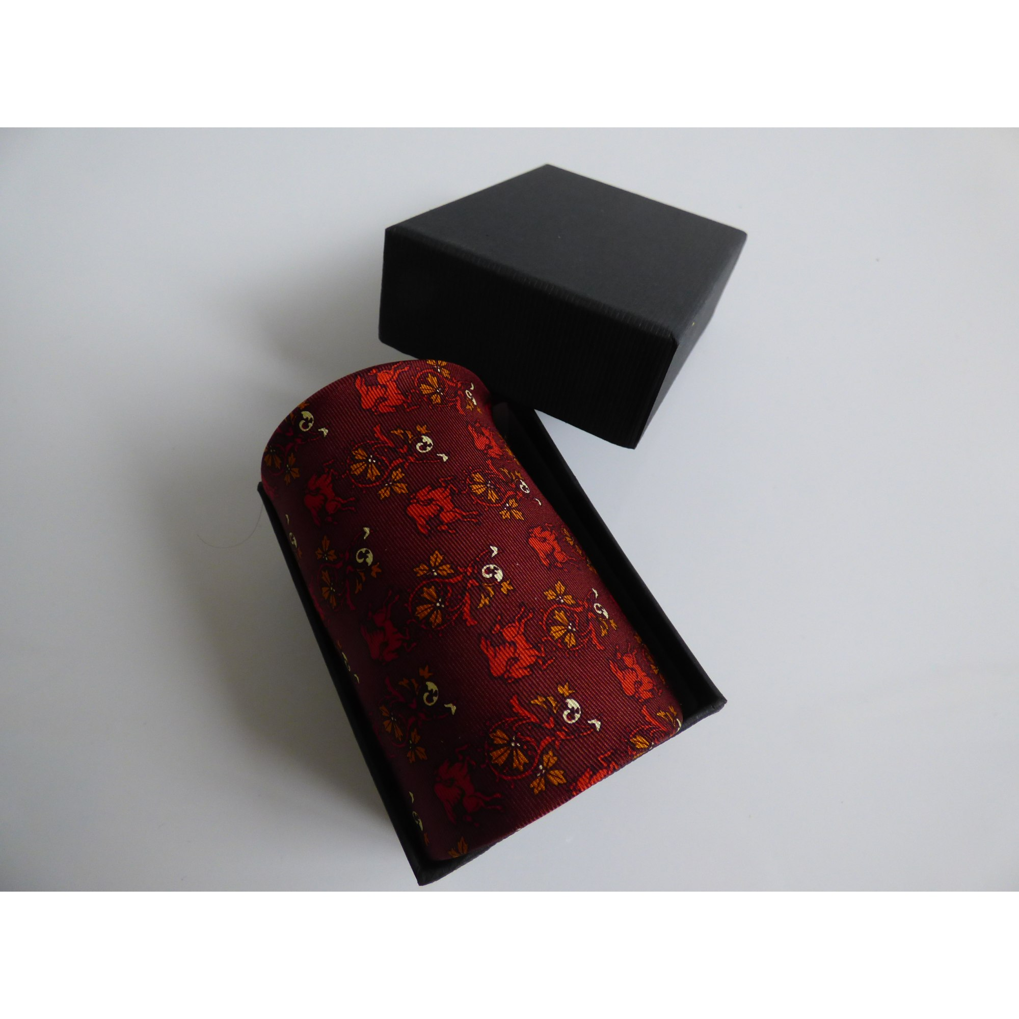 Cravate ROCHAS Rouge, bordeaux