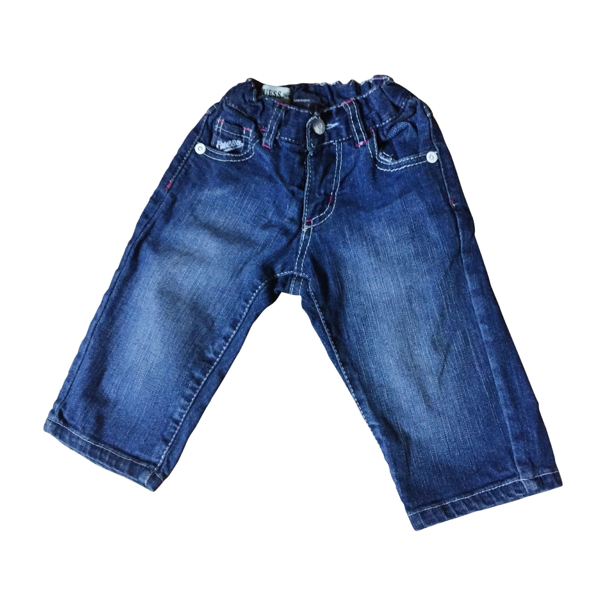 Pantalon GUESS Bleu, bleu marine, bleu turquoise