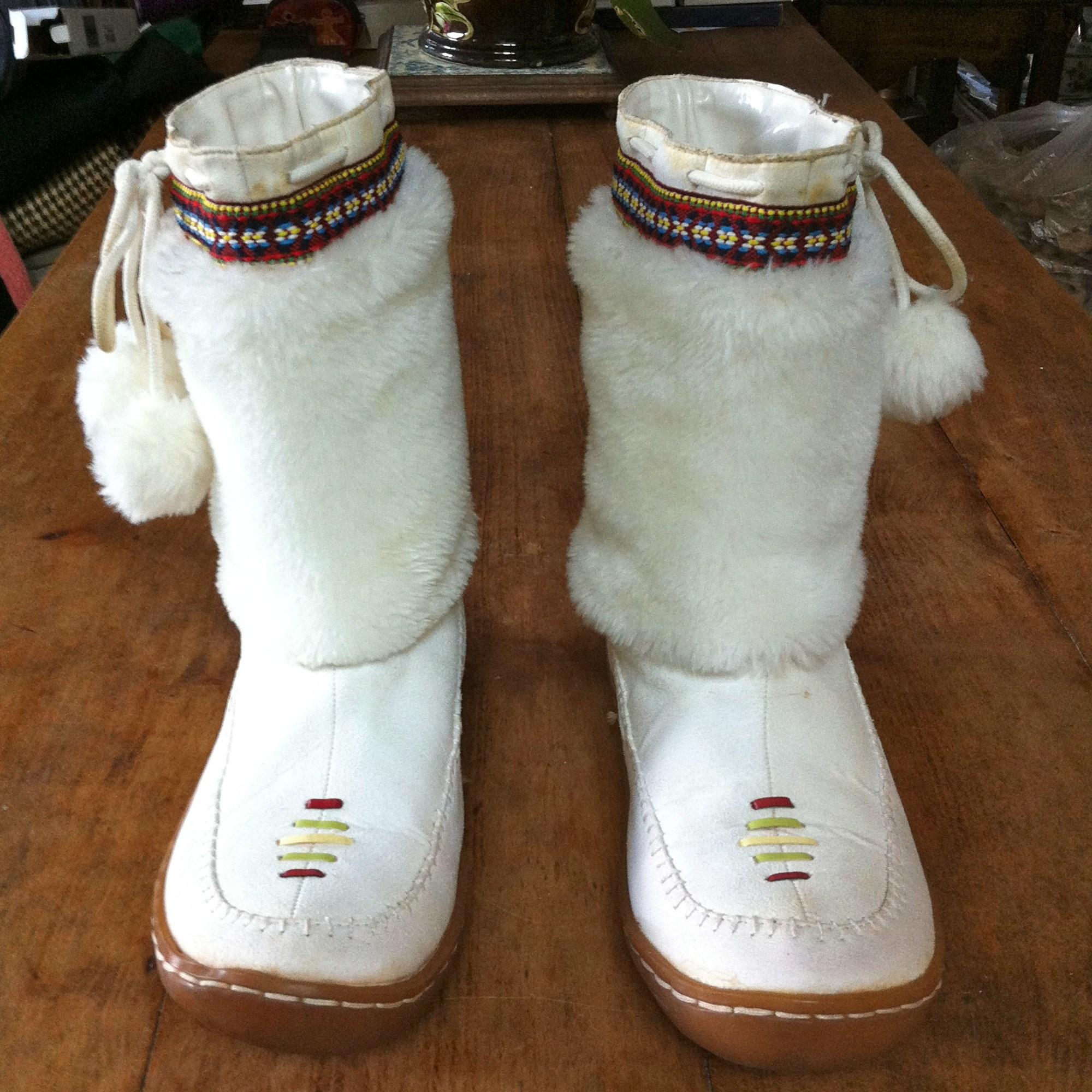 Bottes à compensés NEW LANDER Blanc, blanc cassé, écru