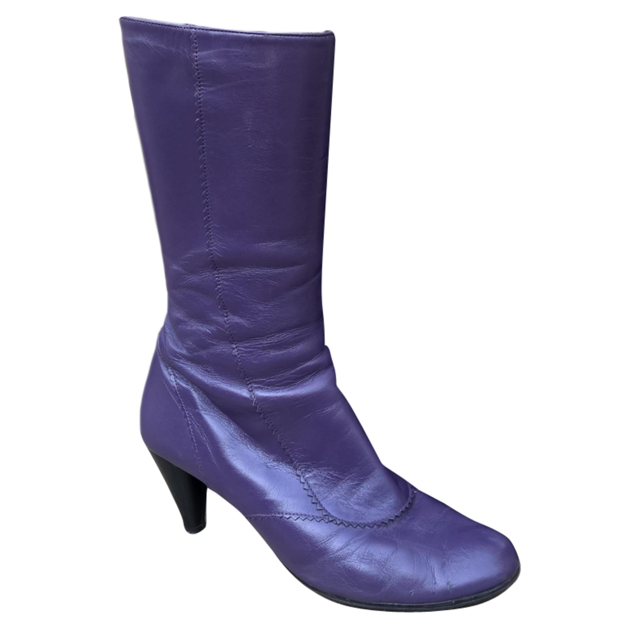 Bottes à talons ANDRÉ Violet, mauve, lavande