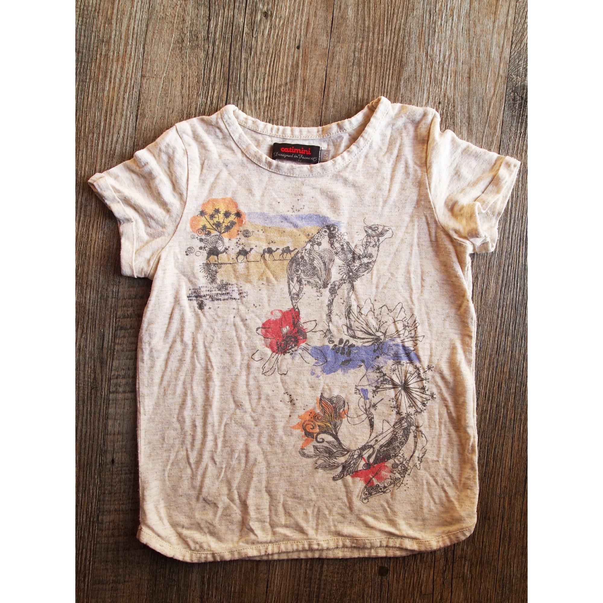 Top, Tee-shirt CATIMINI Beige, camel