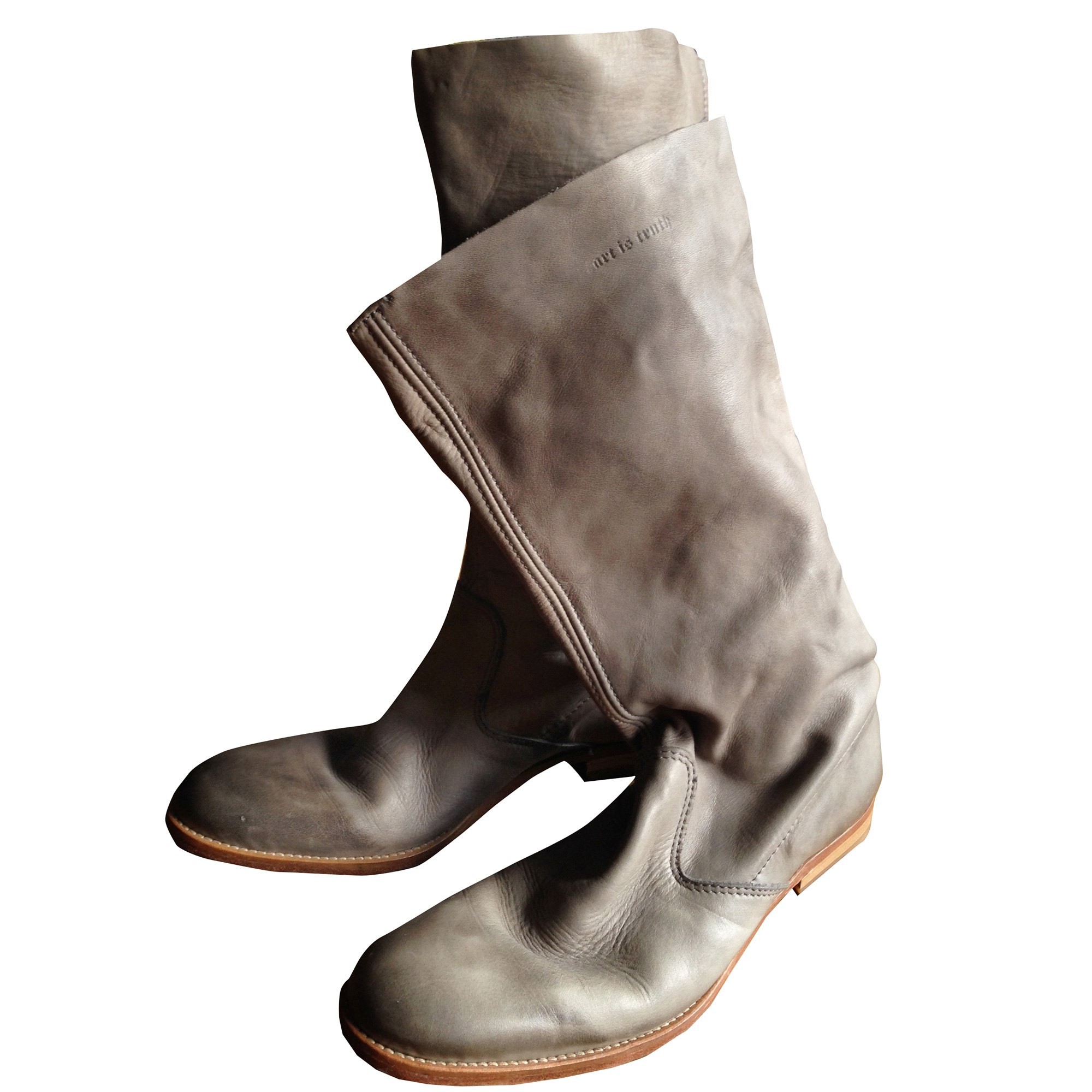 Bottes plates ZADIG & VOLTAIRE Gris, anthracite