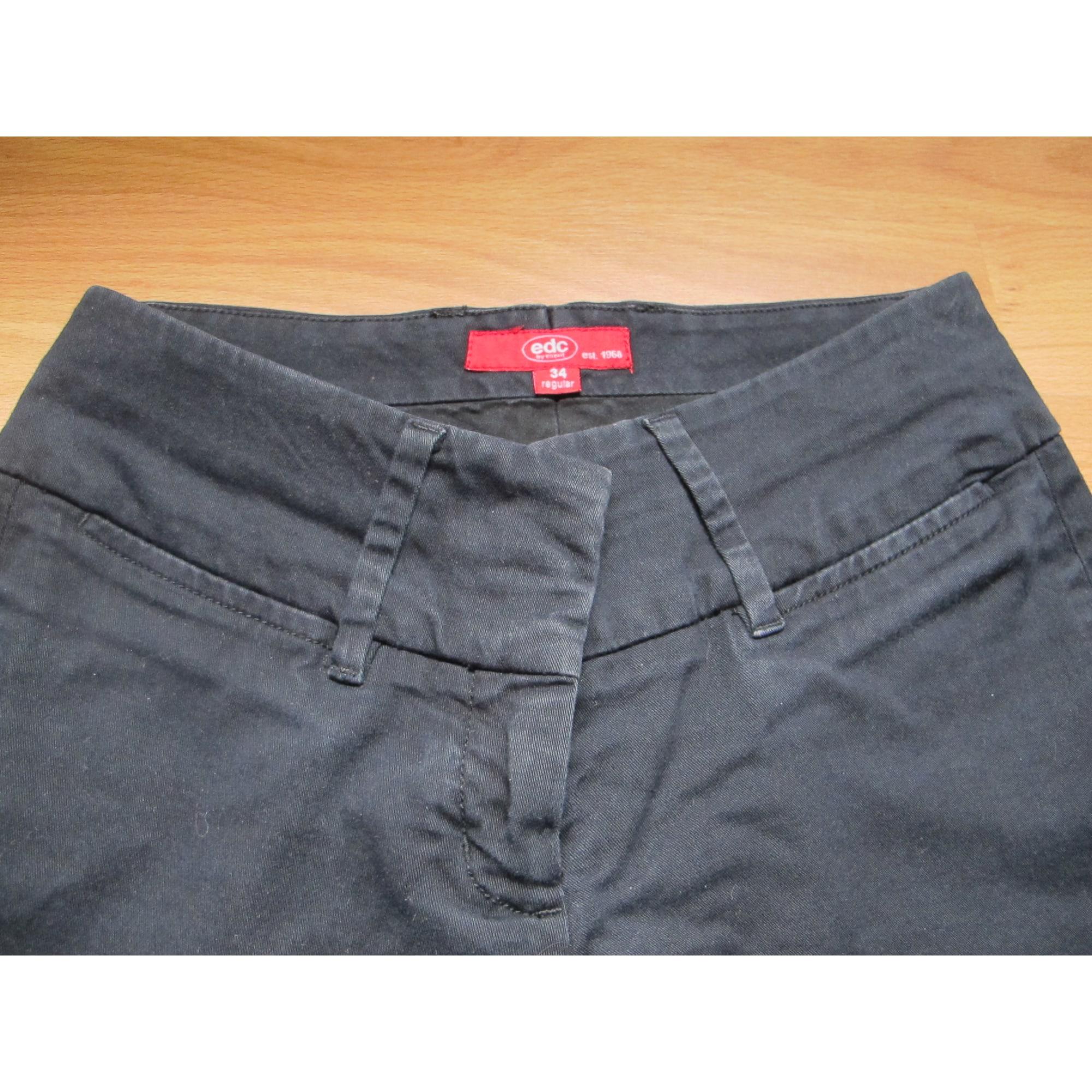 Pantalon évasé ESPRIT Noir