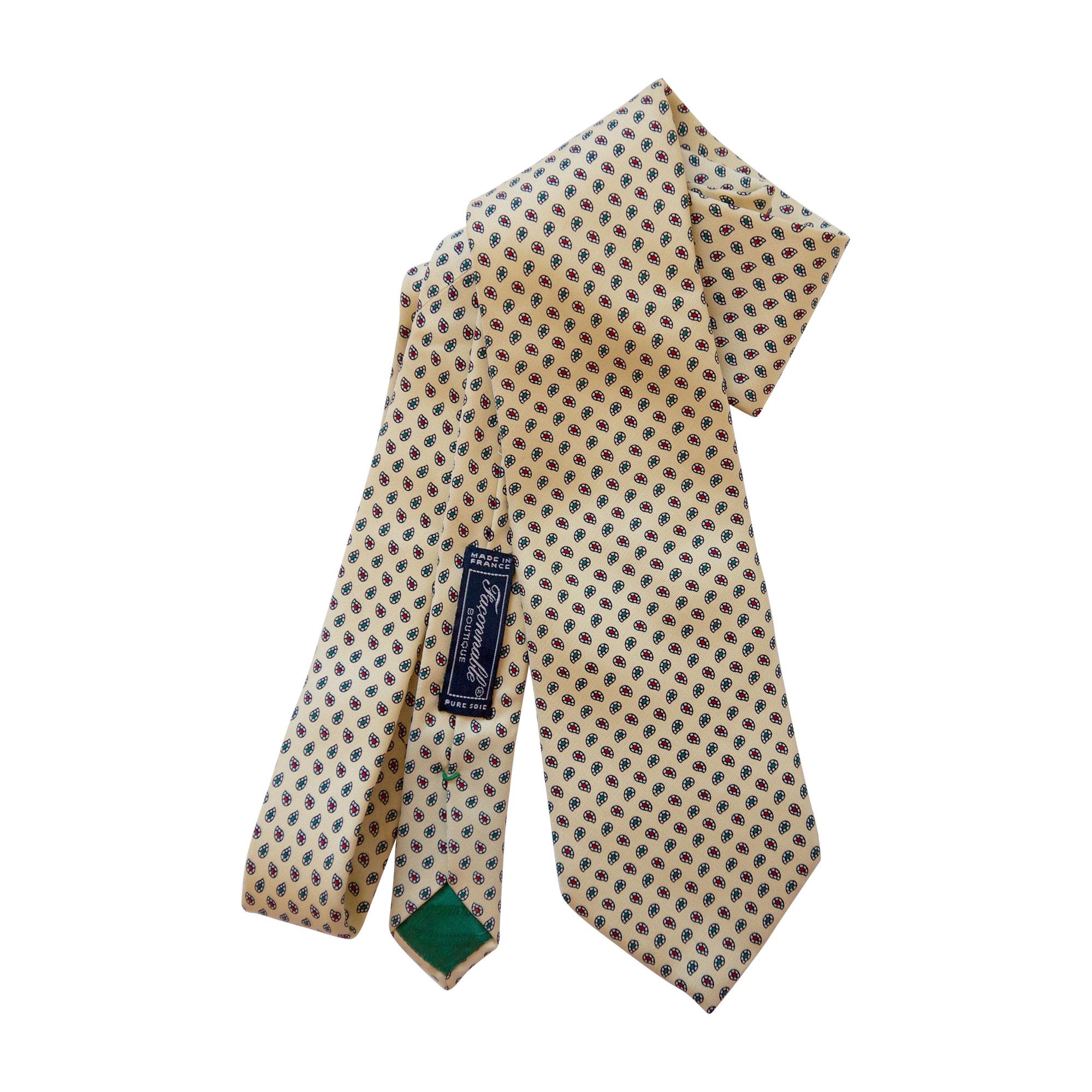 Cravate FAÇONNABLE Jaune