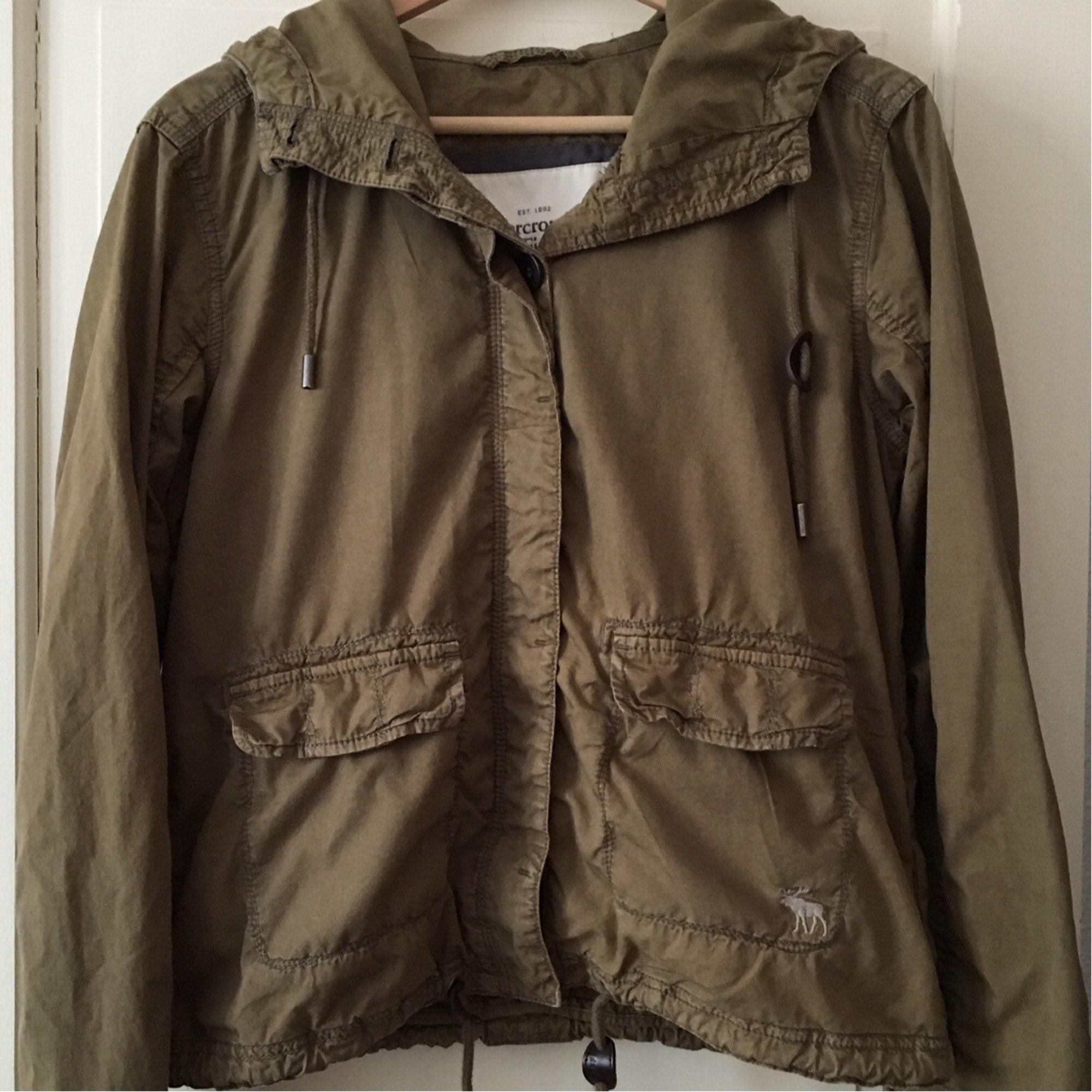 veste homme kaki abercrombie and fitch
