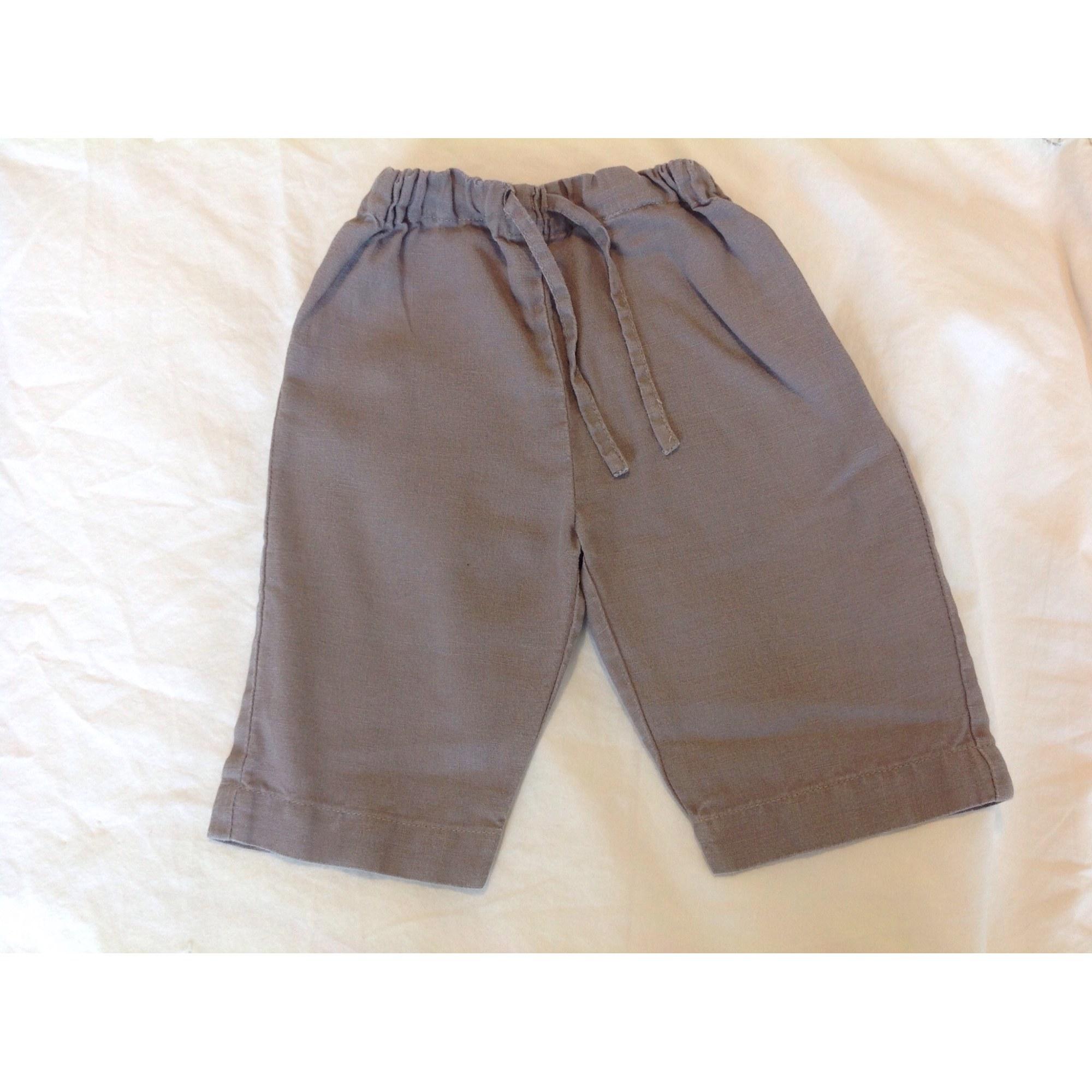 Pantalon LILI GAUFRETTE Marron