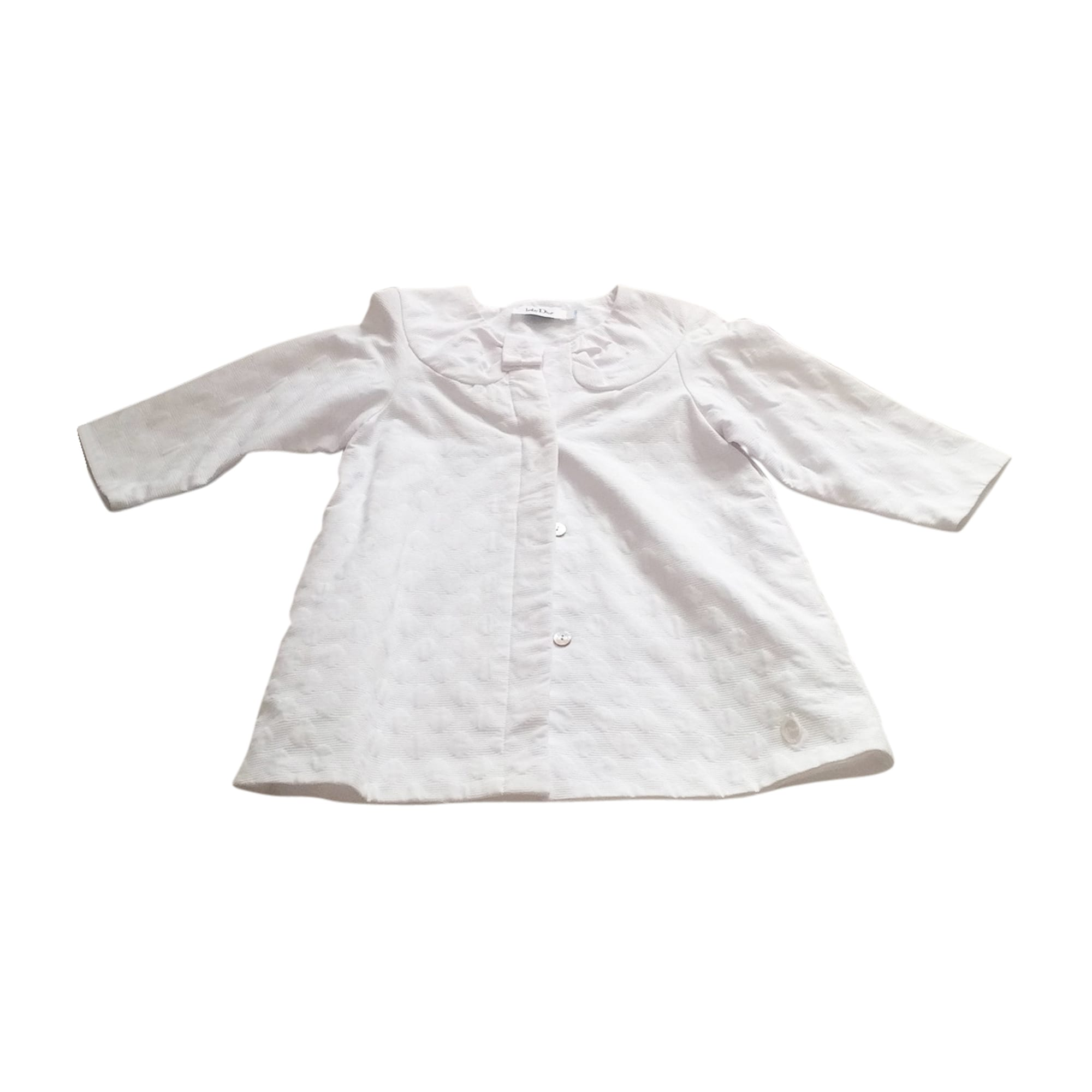 Coat BABY DIOR White, off-white, ecru