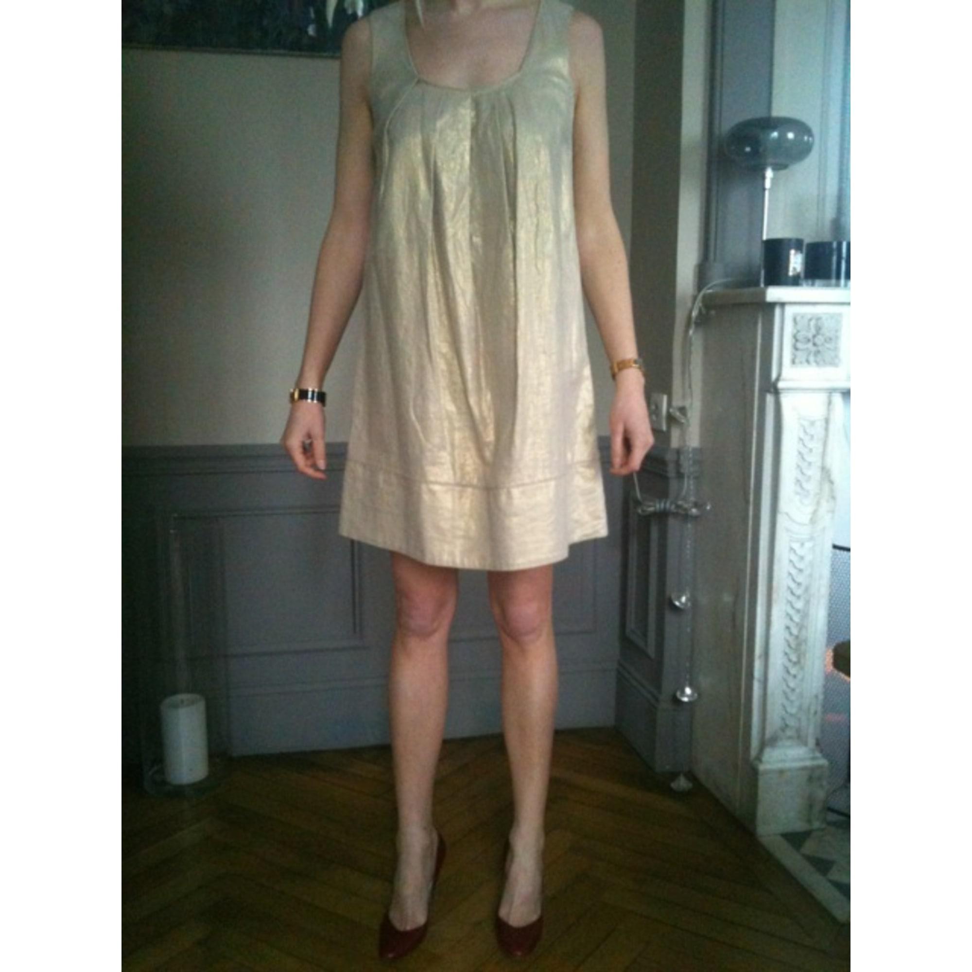 Robe courte LES PETITES... Doré, bronze, cuivre