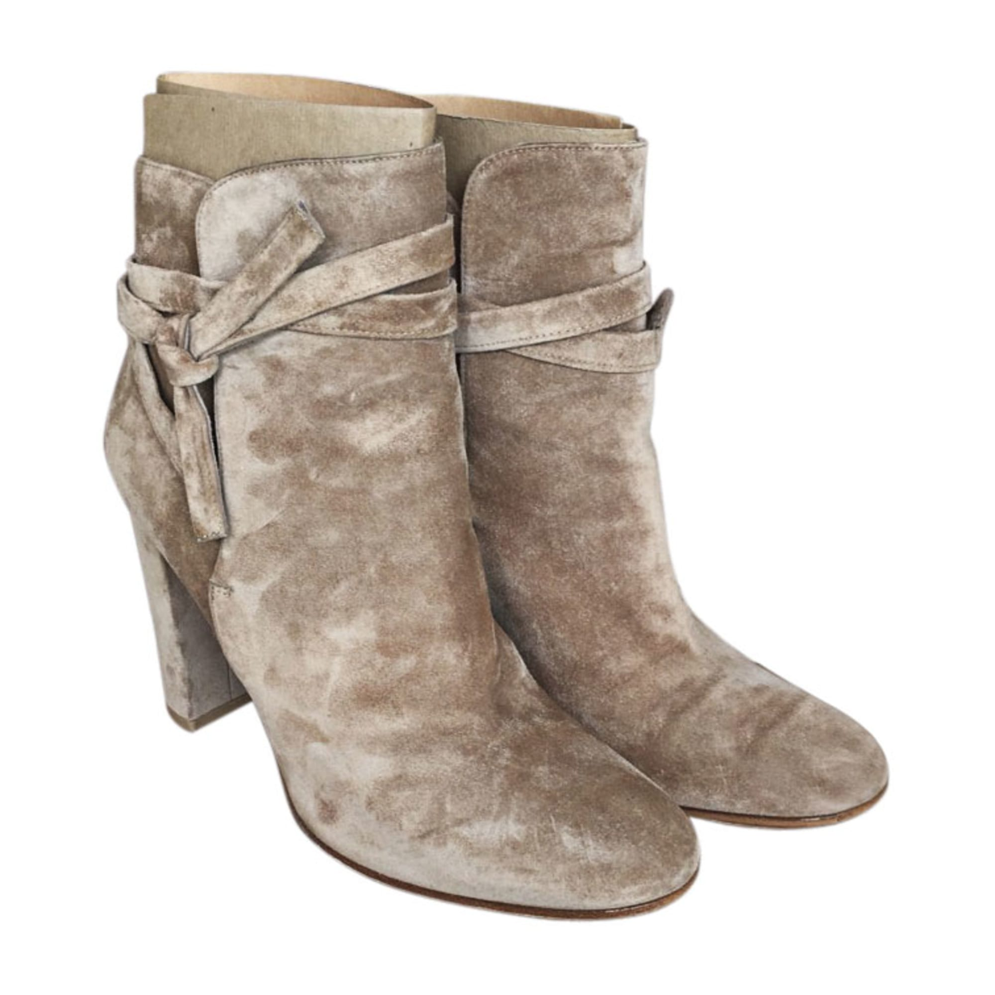 Bottines & low boots à talons GIANVITO ROSSI Beige, camel