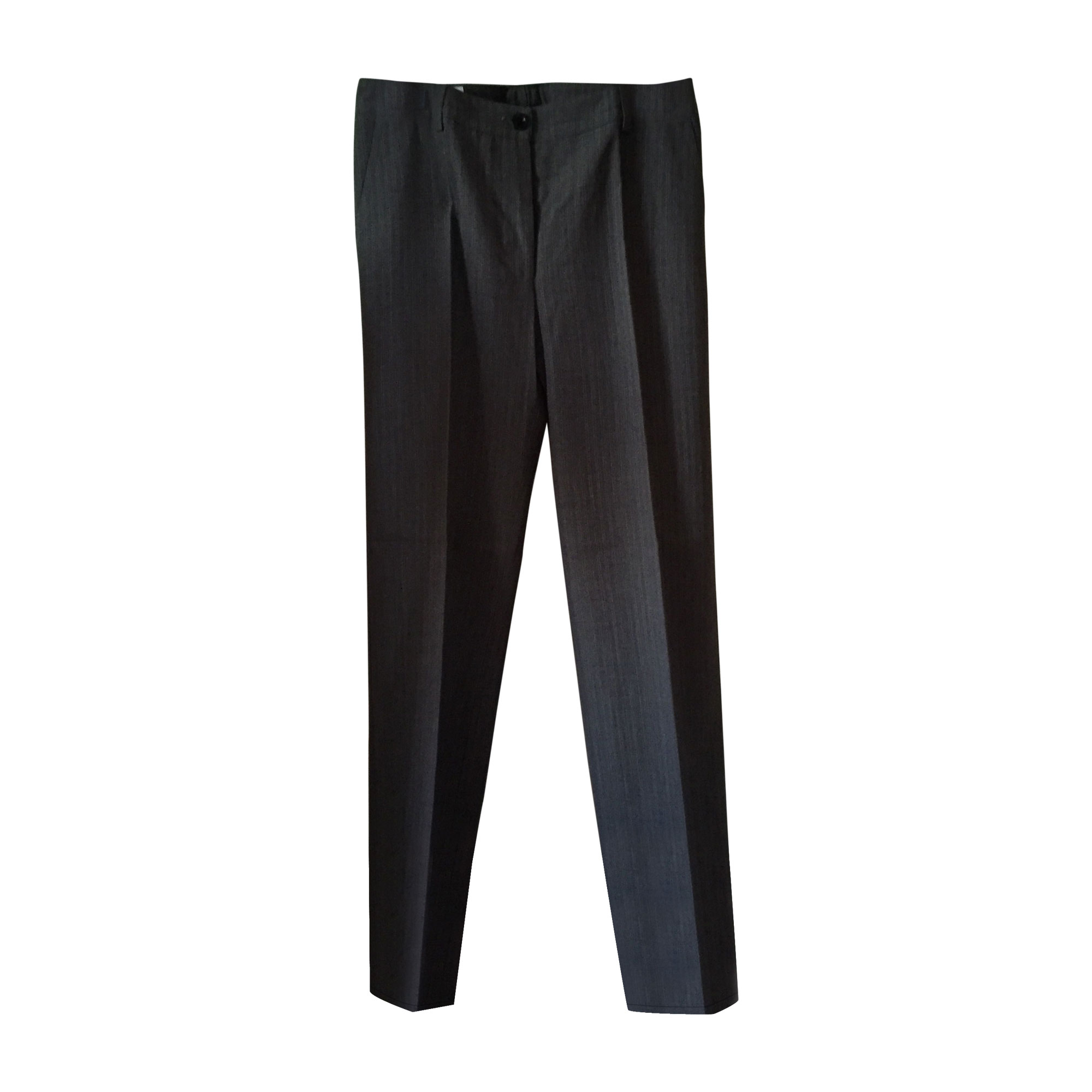 Pantalon droit DRIES VAN NOTEN Marron