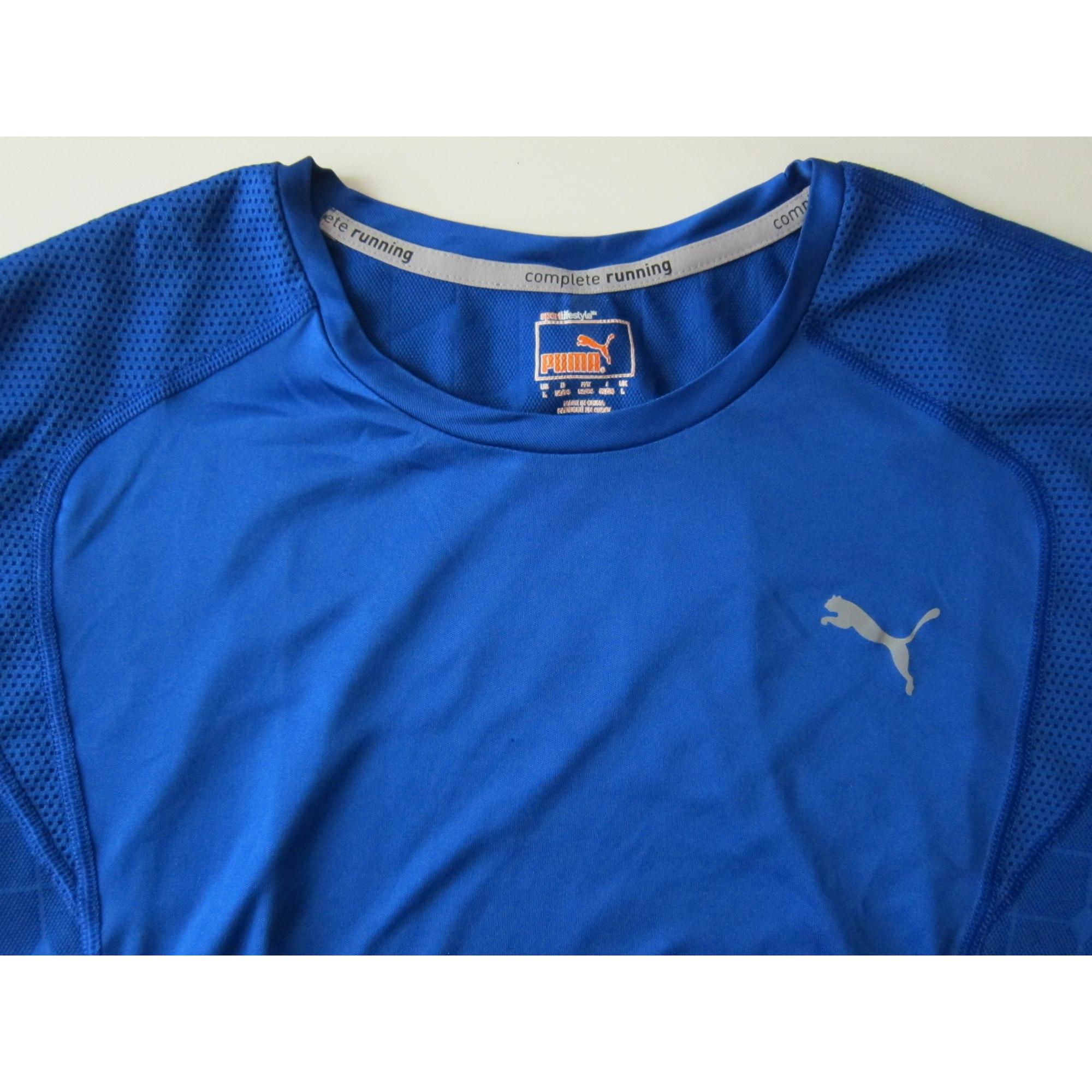 Tee-shirt PUMA Bleu, bleu marine, bleu turquoise