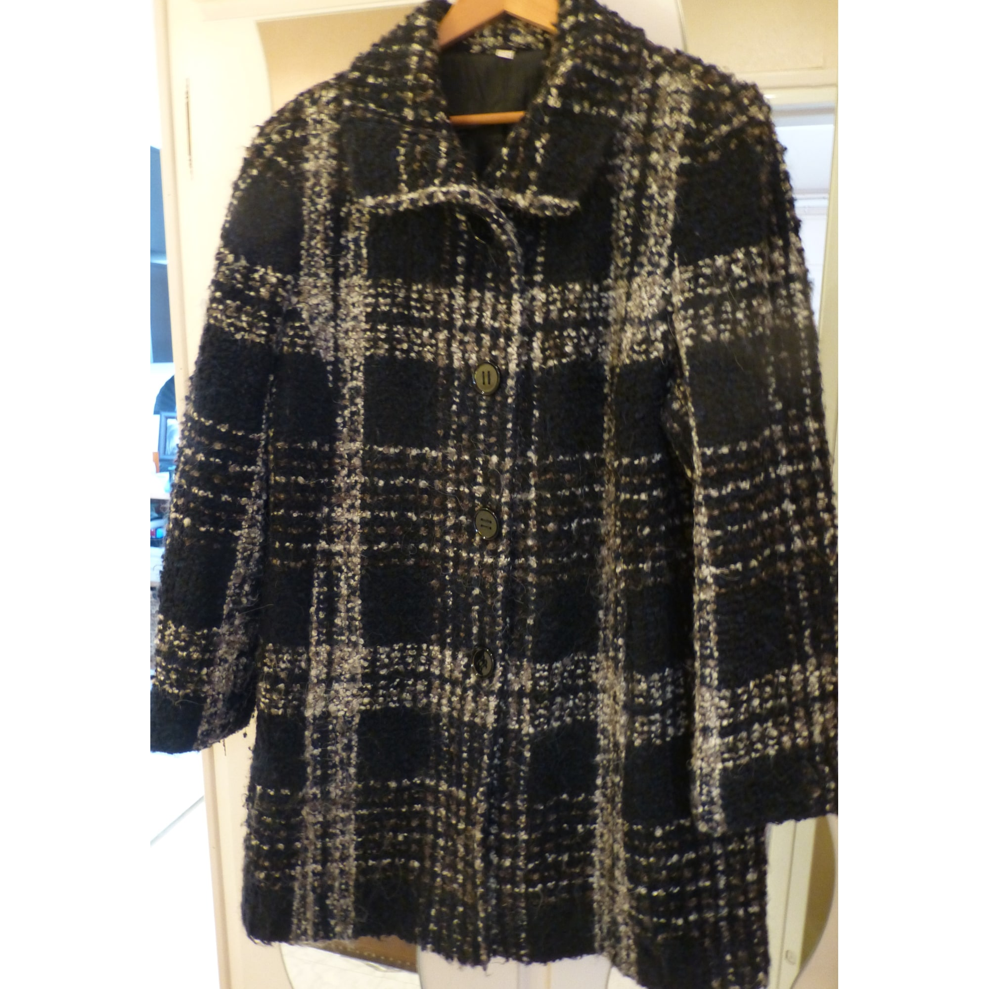 christine laure manteau noir