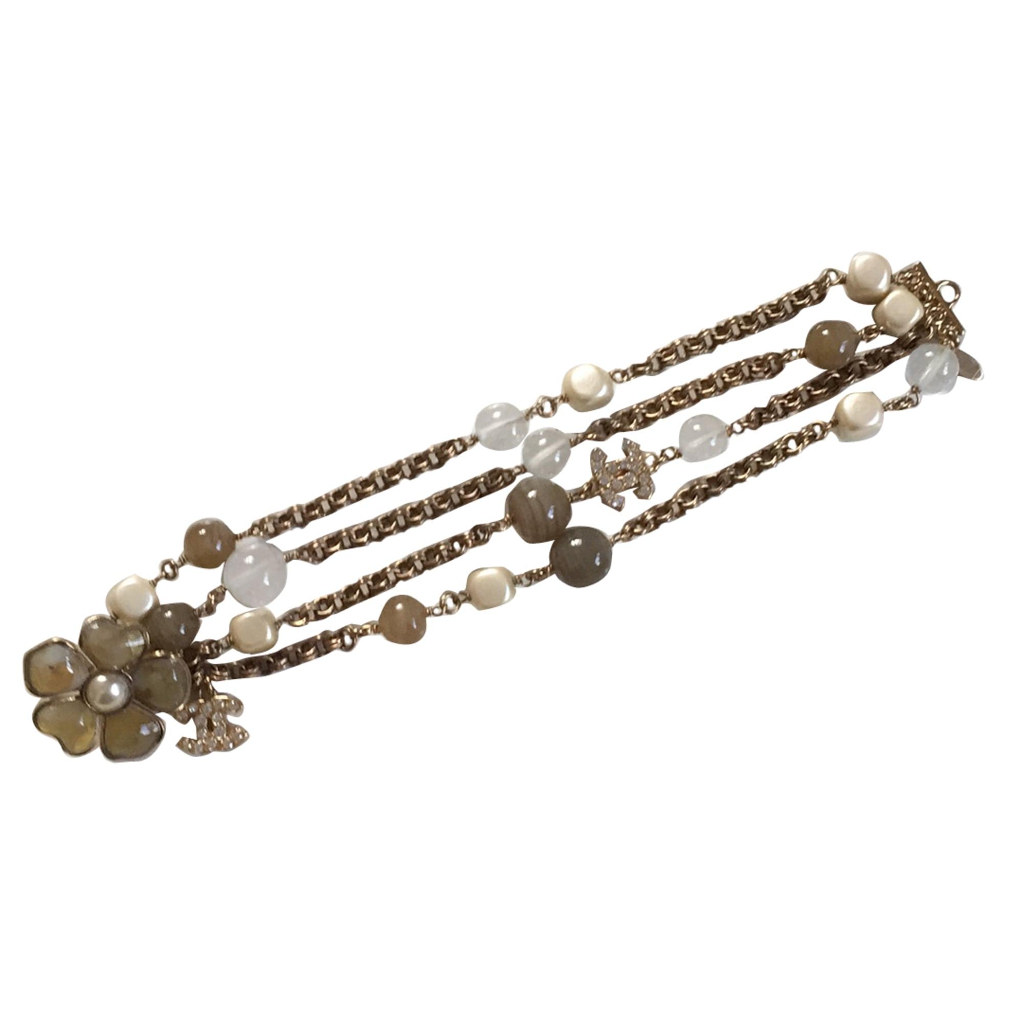 Bracelet CHANEL Doré, bronze, cuivre