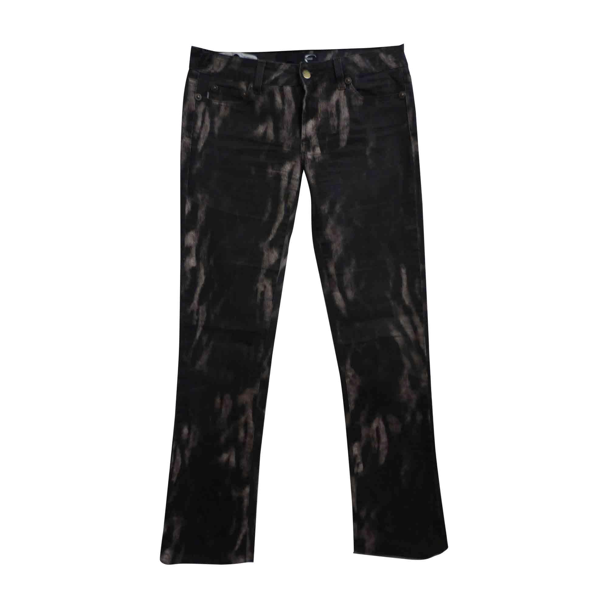 Pantalon droit JUST CAVALLI Marron