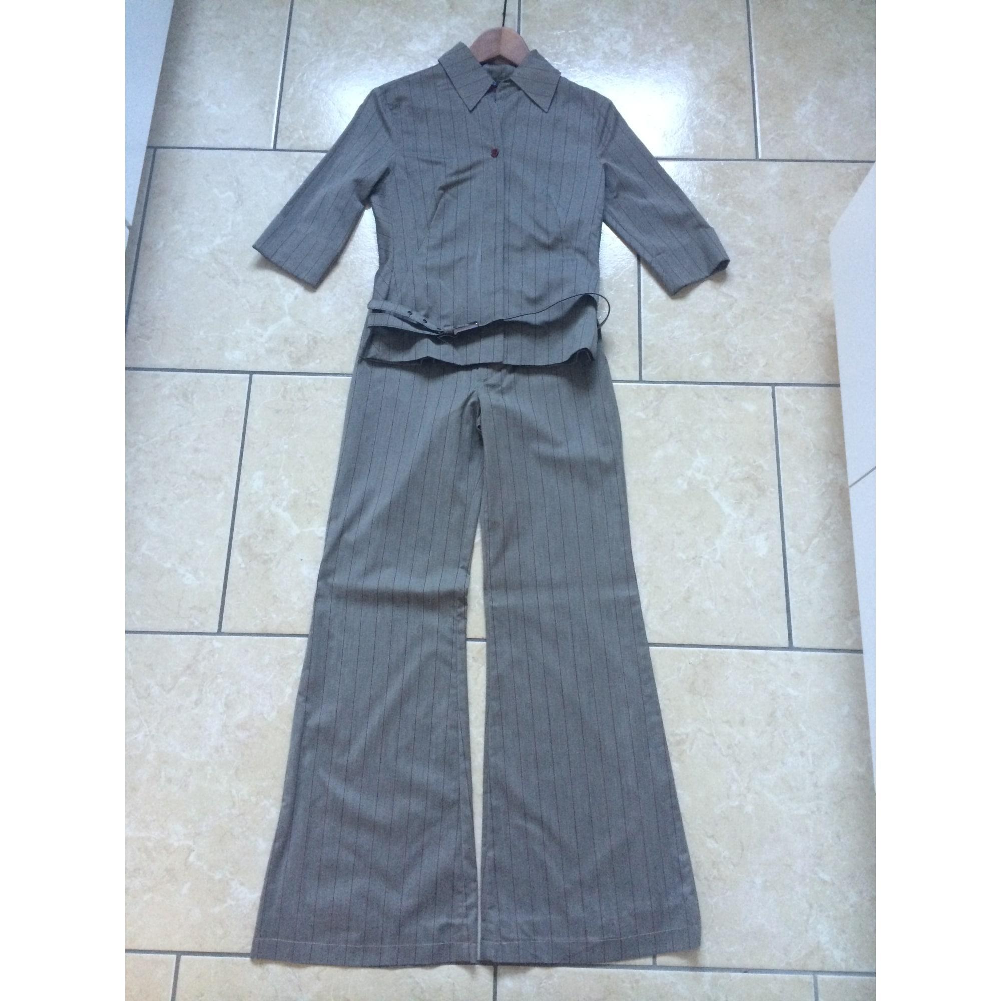 Tailleur pantalon MANGO Kaki