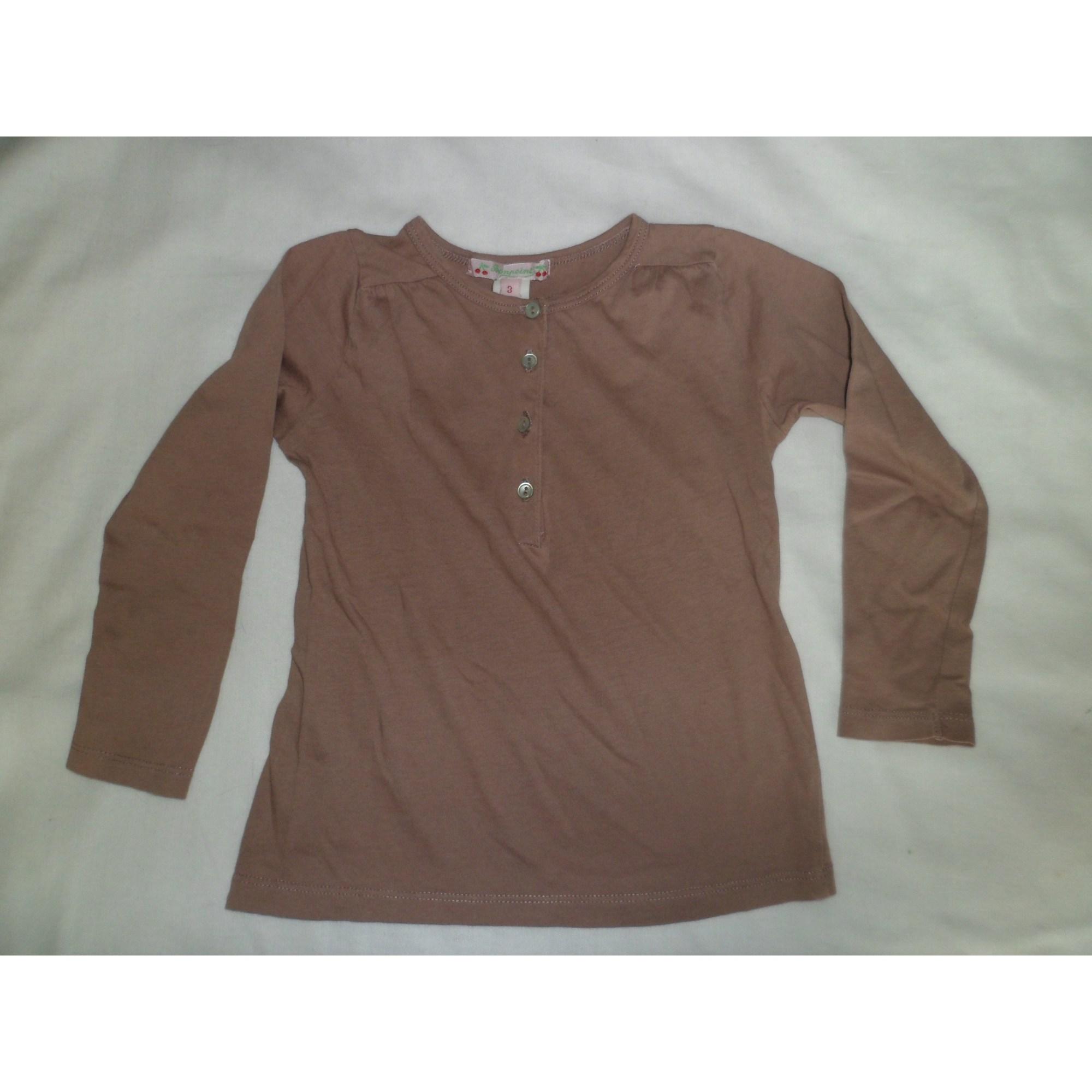 Top, Tee-shirt BONPOINT Beige, camel