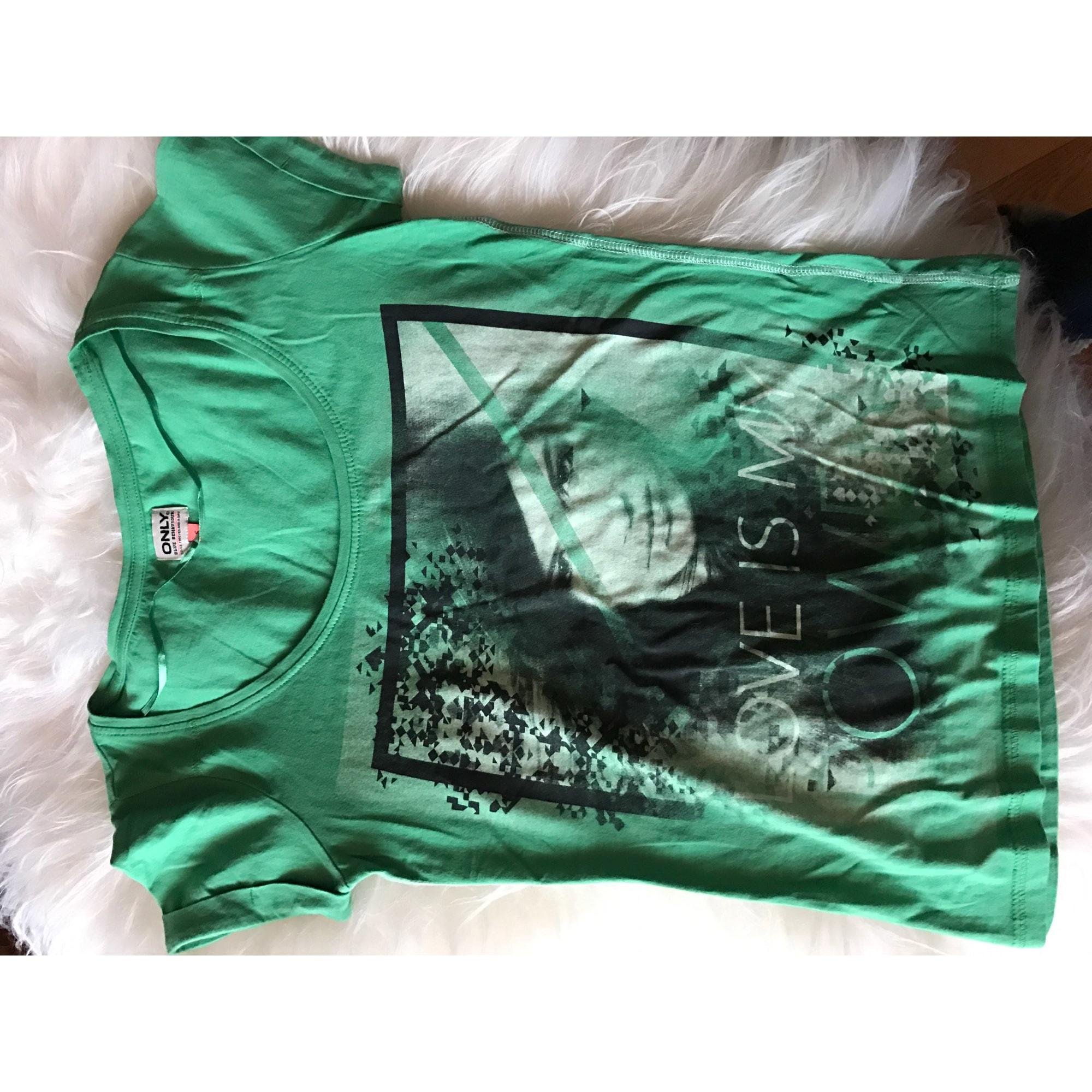 Top, tee-shirt ONLY Vert