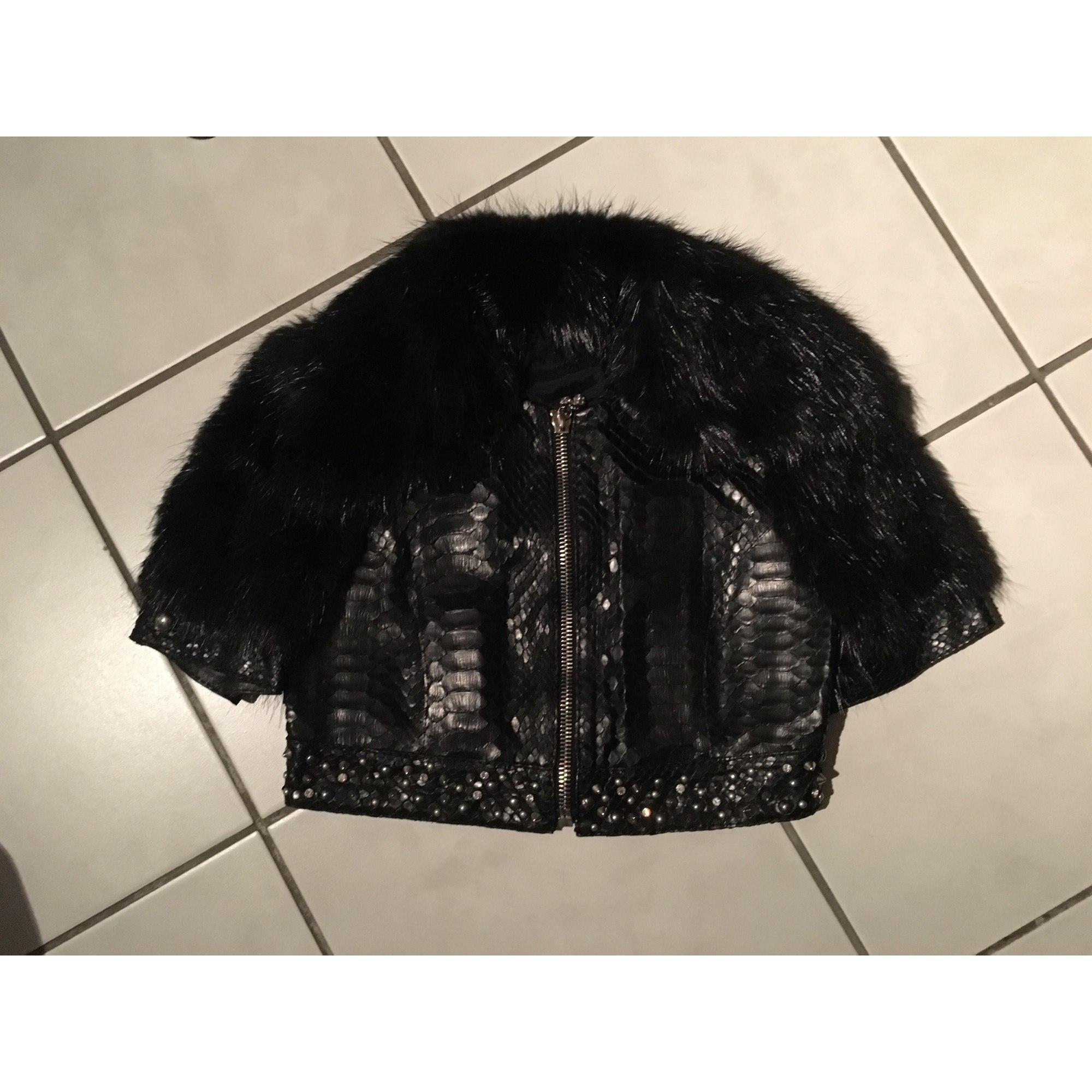 Blouson, veste en fourrure FONTANI Noir