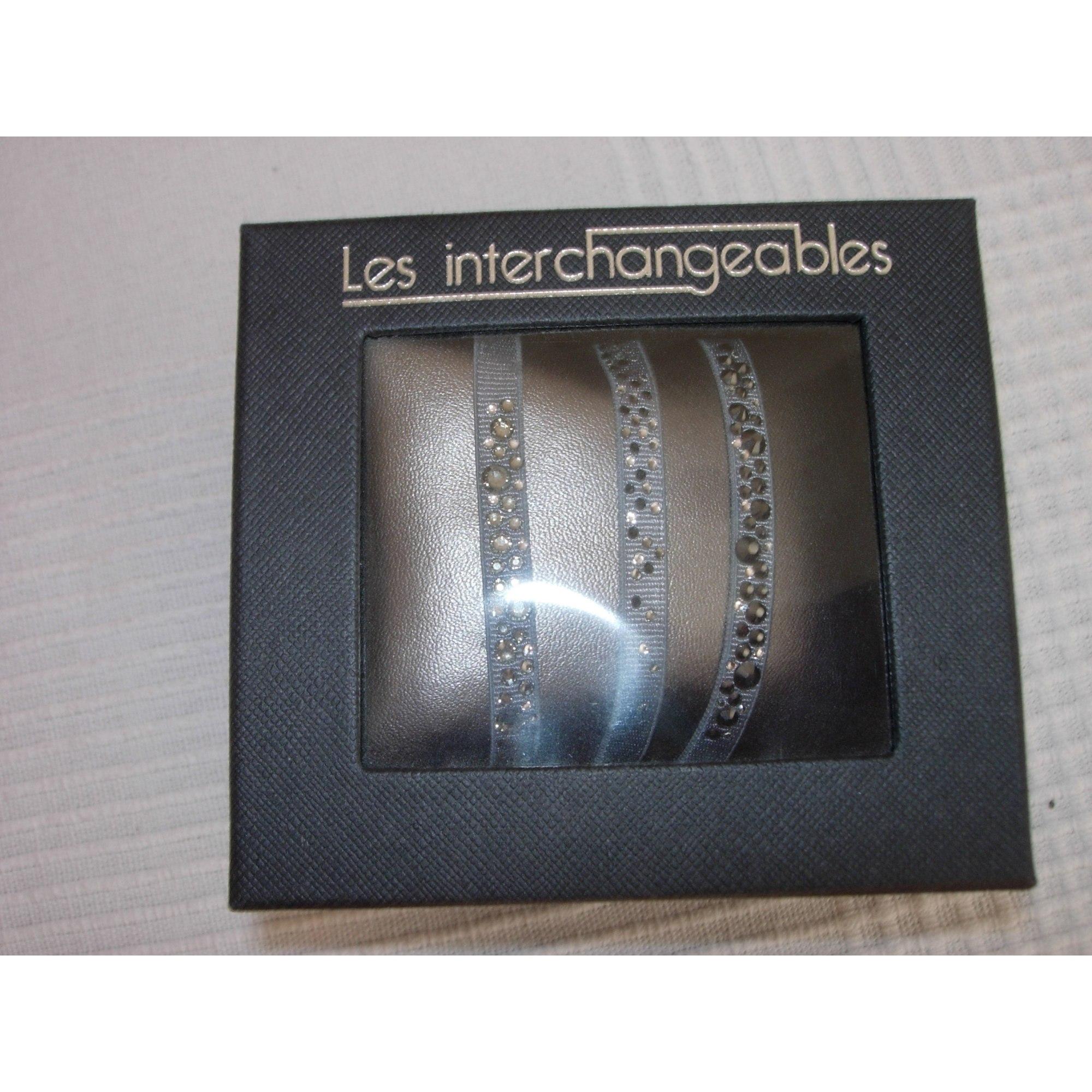 Bracelet LES INTERCHANGEABLES Gris, anthracite