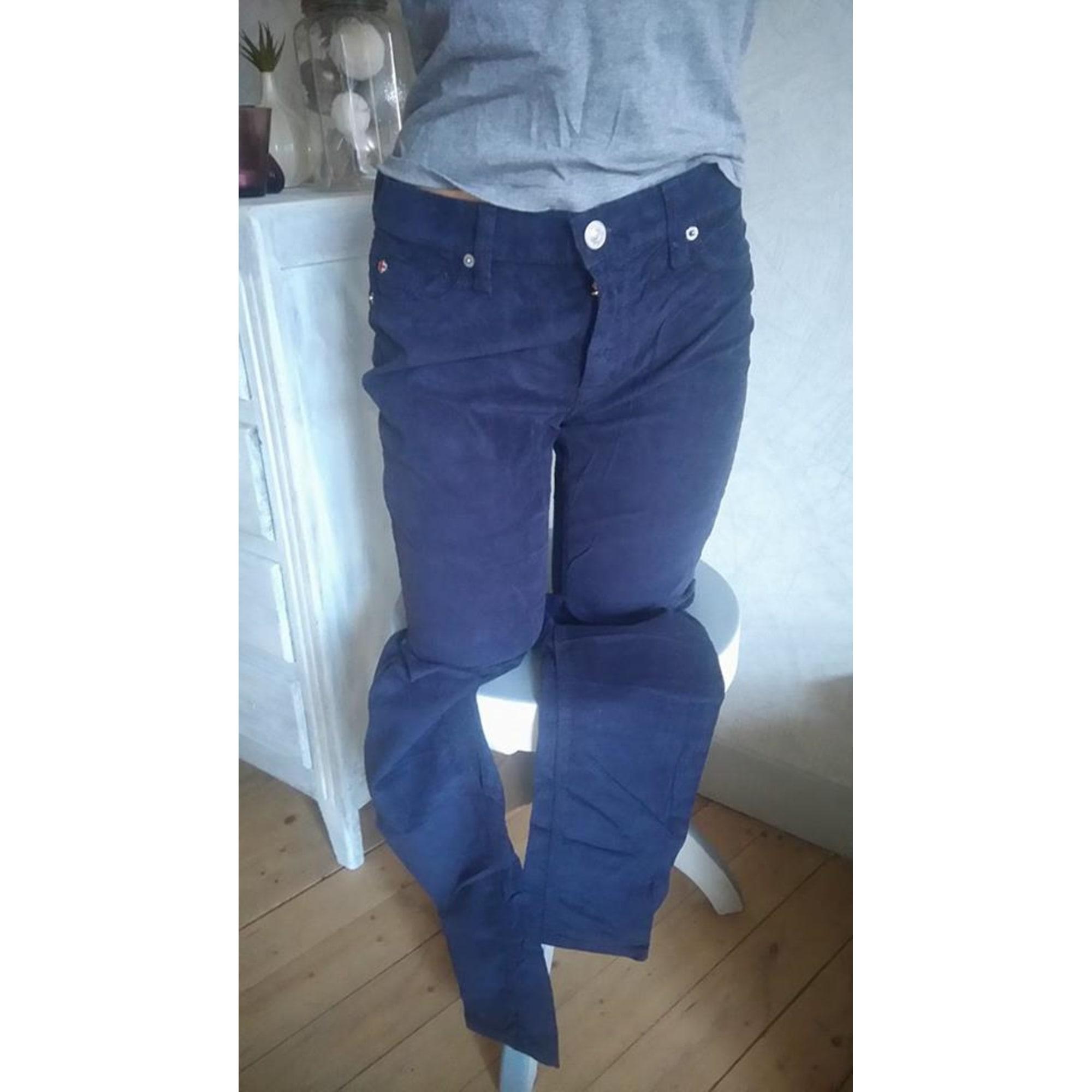 Jeans slim HUDSON JEANS Bleu, bleu marine, bleu turquoise