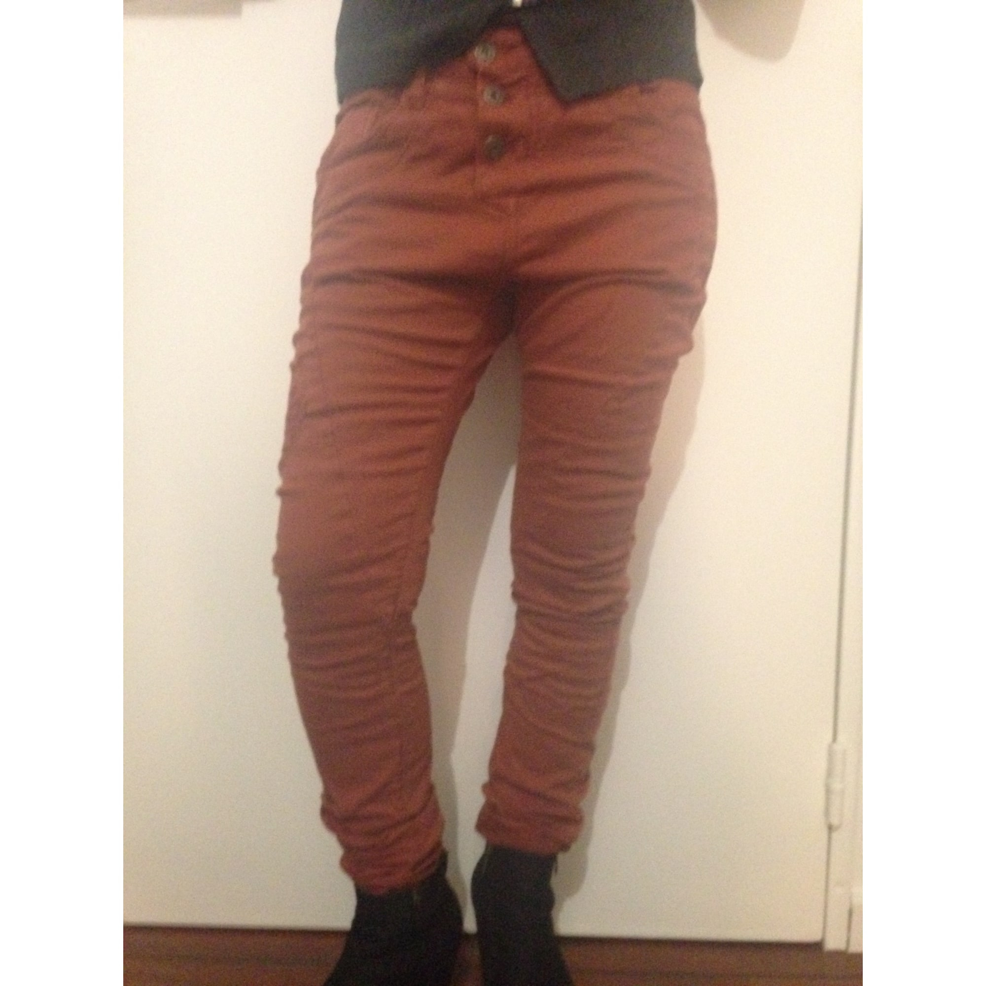 Pantalon droit PLEASE Rouge, bordeaux
