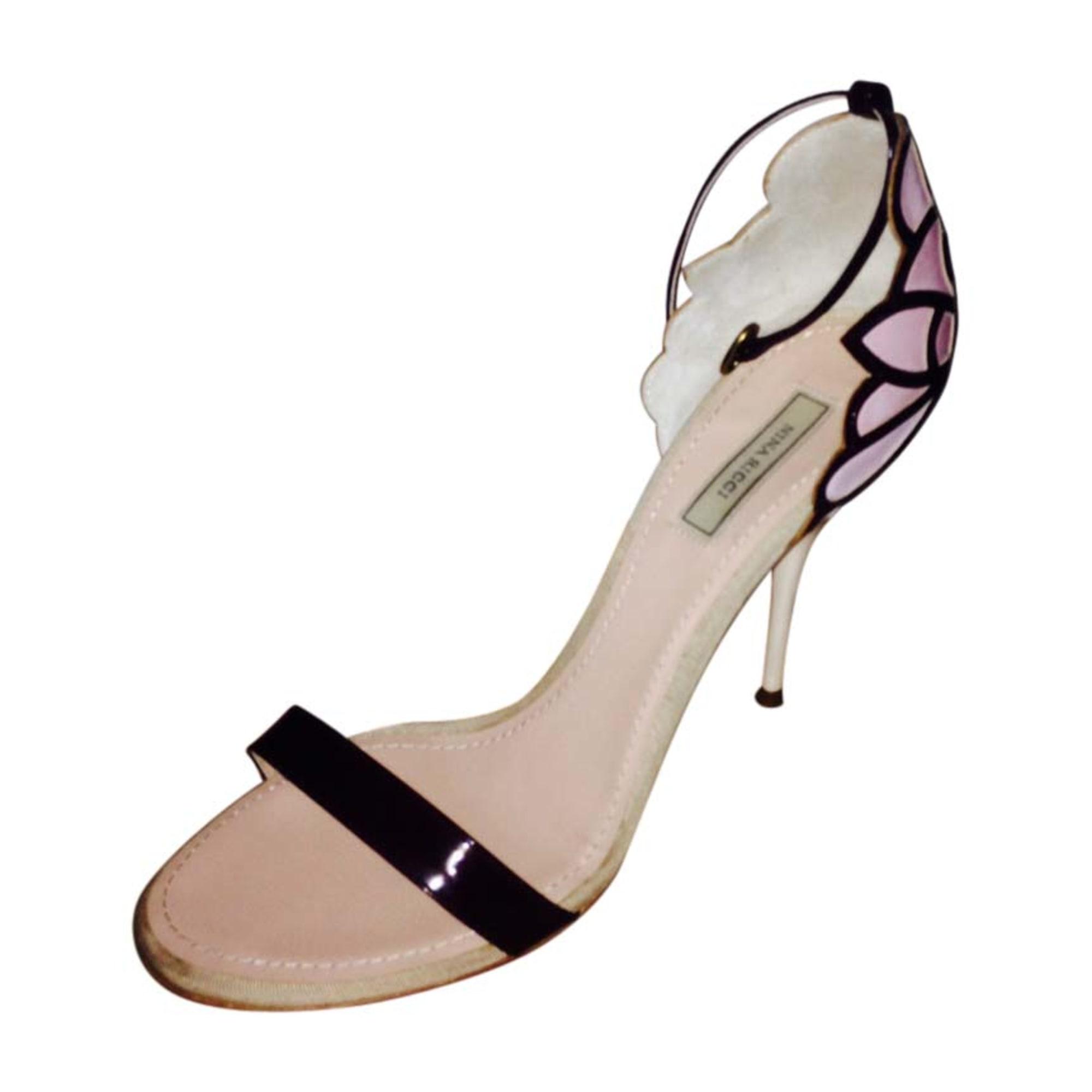 Sandales à talons NINA RICCI Rose, fuschia, vieux rose