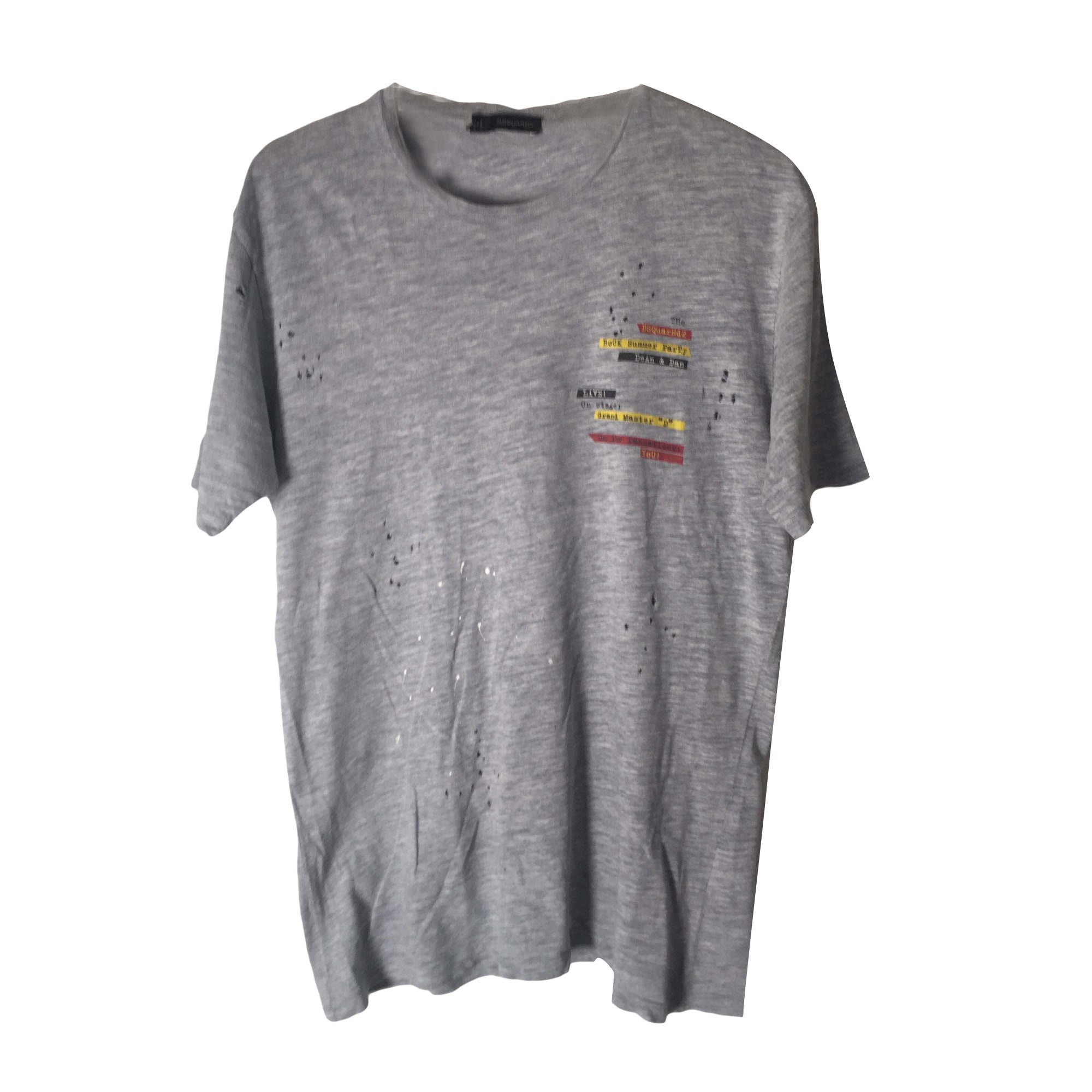 Tee-shirt DSQUARED2 Gris, anthracite