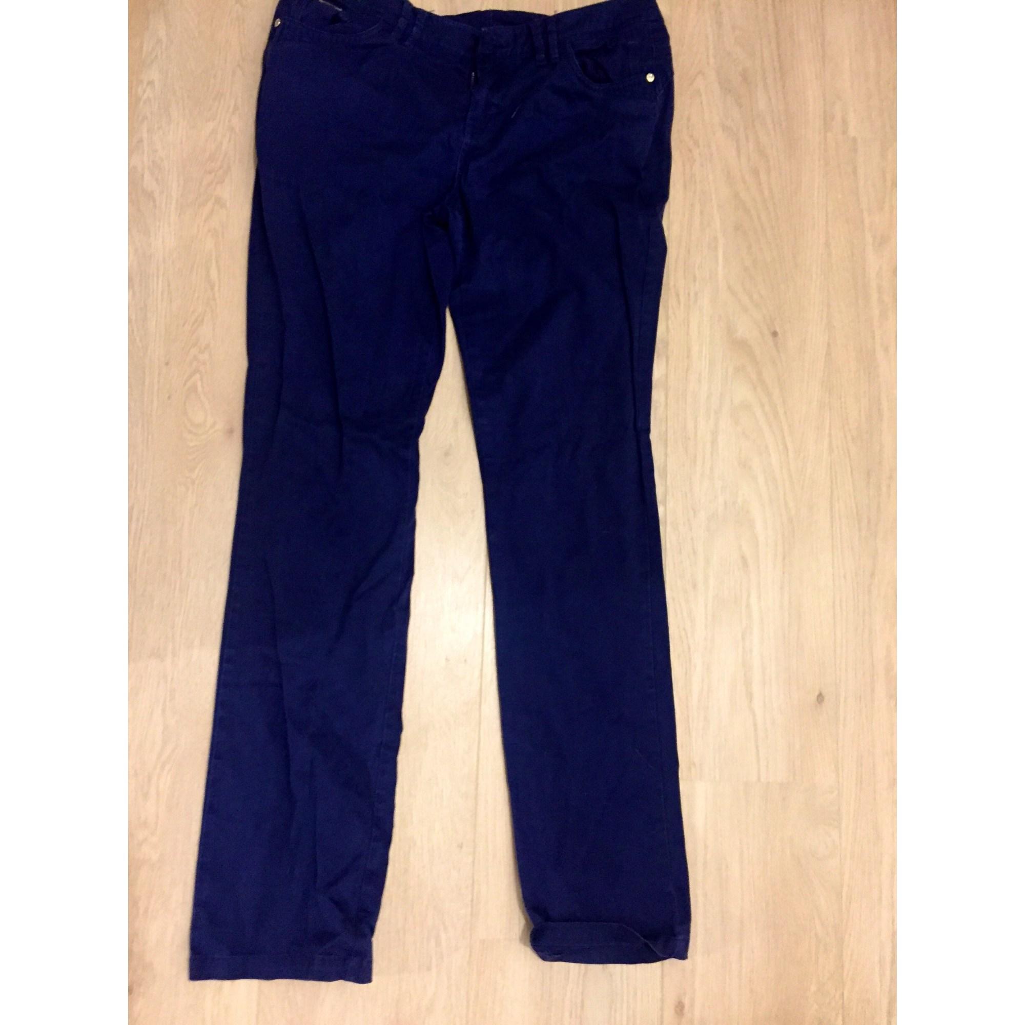Pantalon droit MORGAN Bleu, bleu marine, bleu turquoise