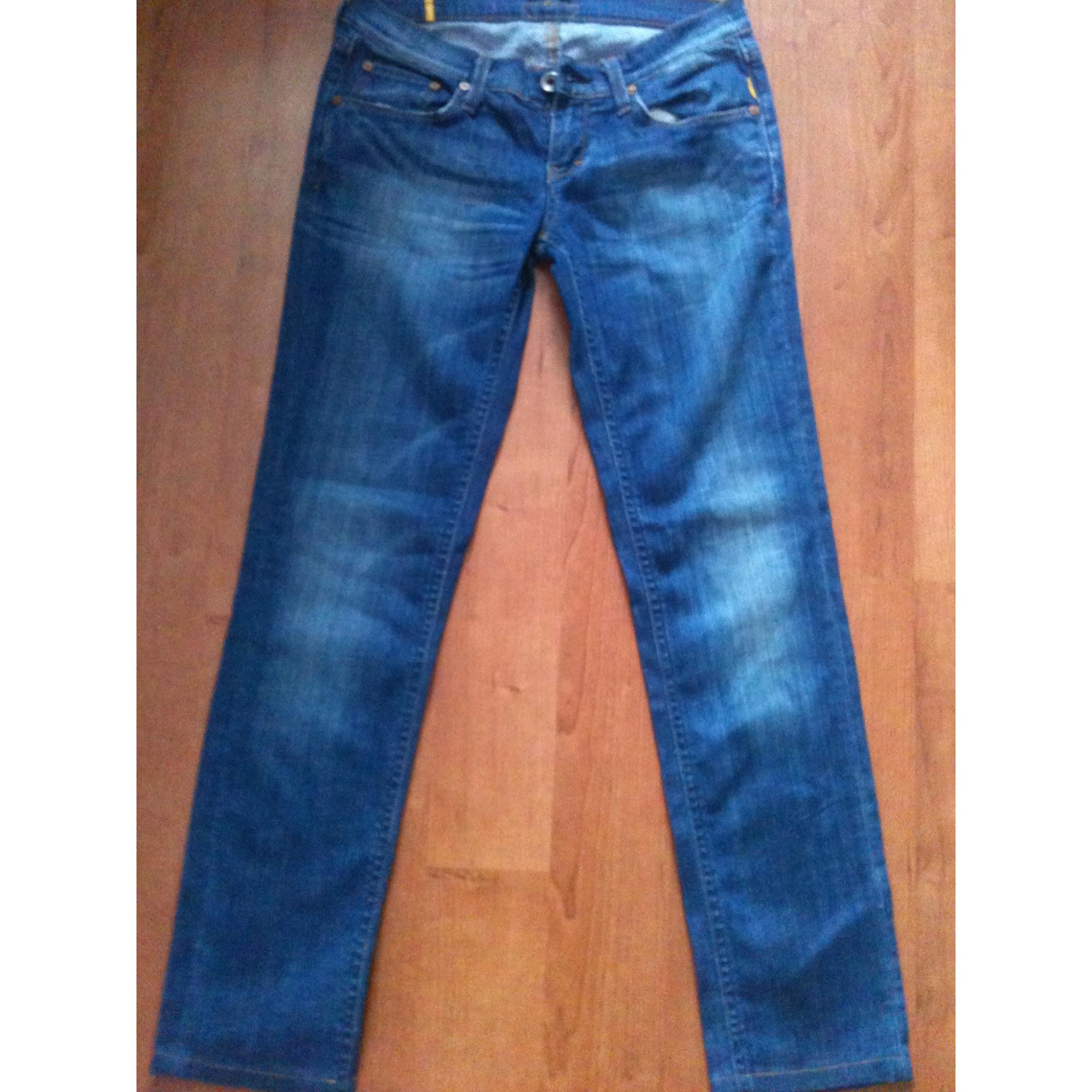 Jeans droit MELTIN' POT Bleu, bleu marine, bleu turquoise