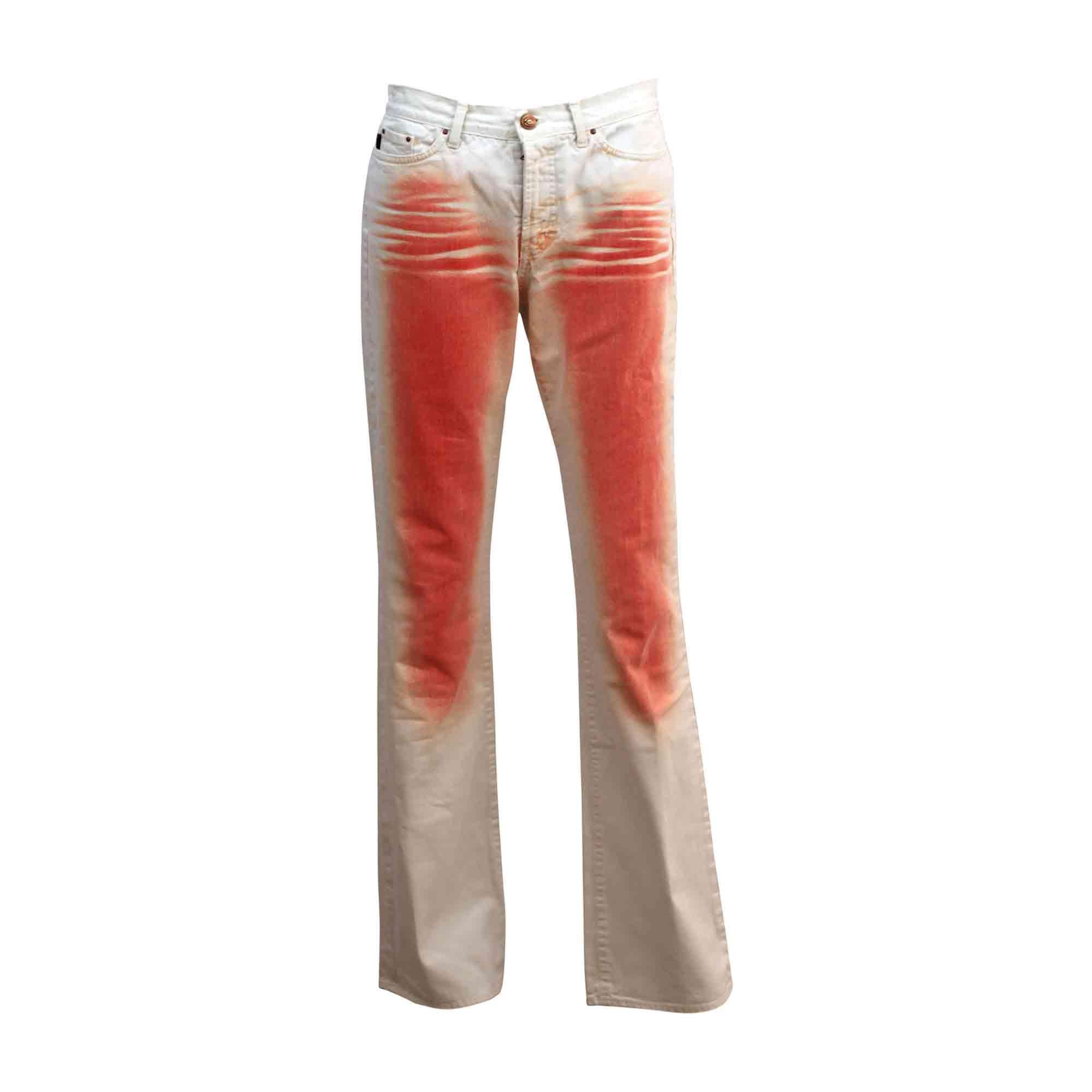 Jeans droit JUST CAVALLI Blanc, blanc cassé, écru