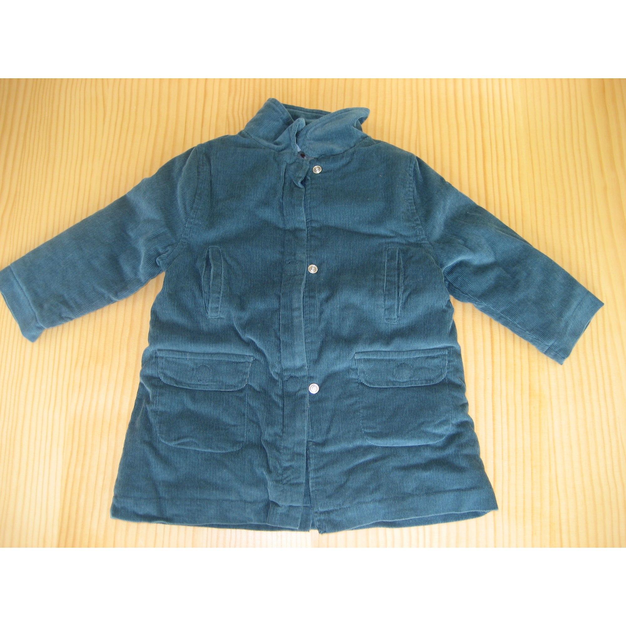 Manteau OBAIBI Bleu, bleu marine, bleu turquoise