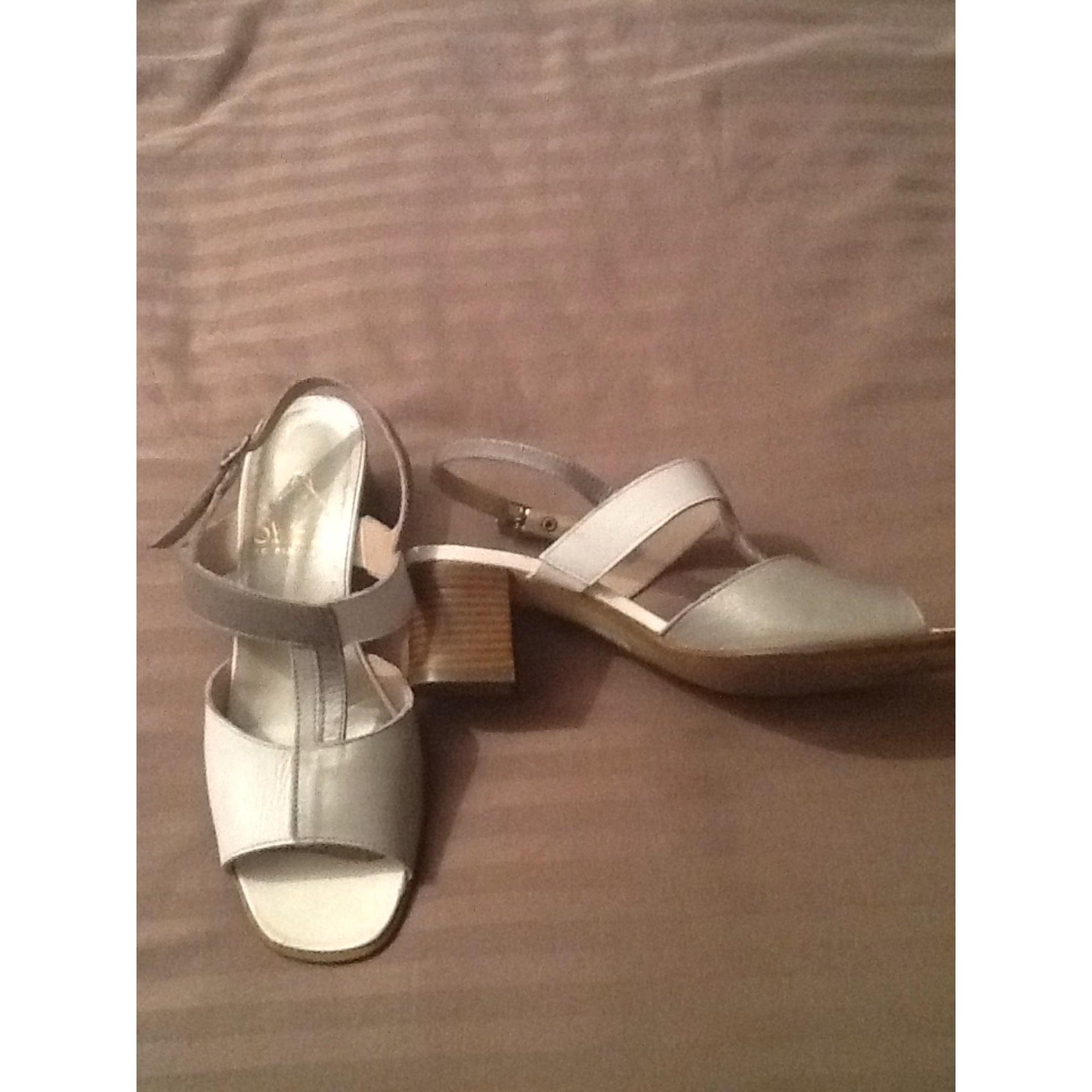 Sandales à talons PINDIÈRE Blanc, blanc cassé, écru