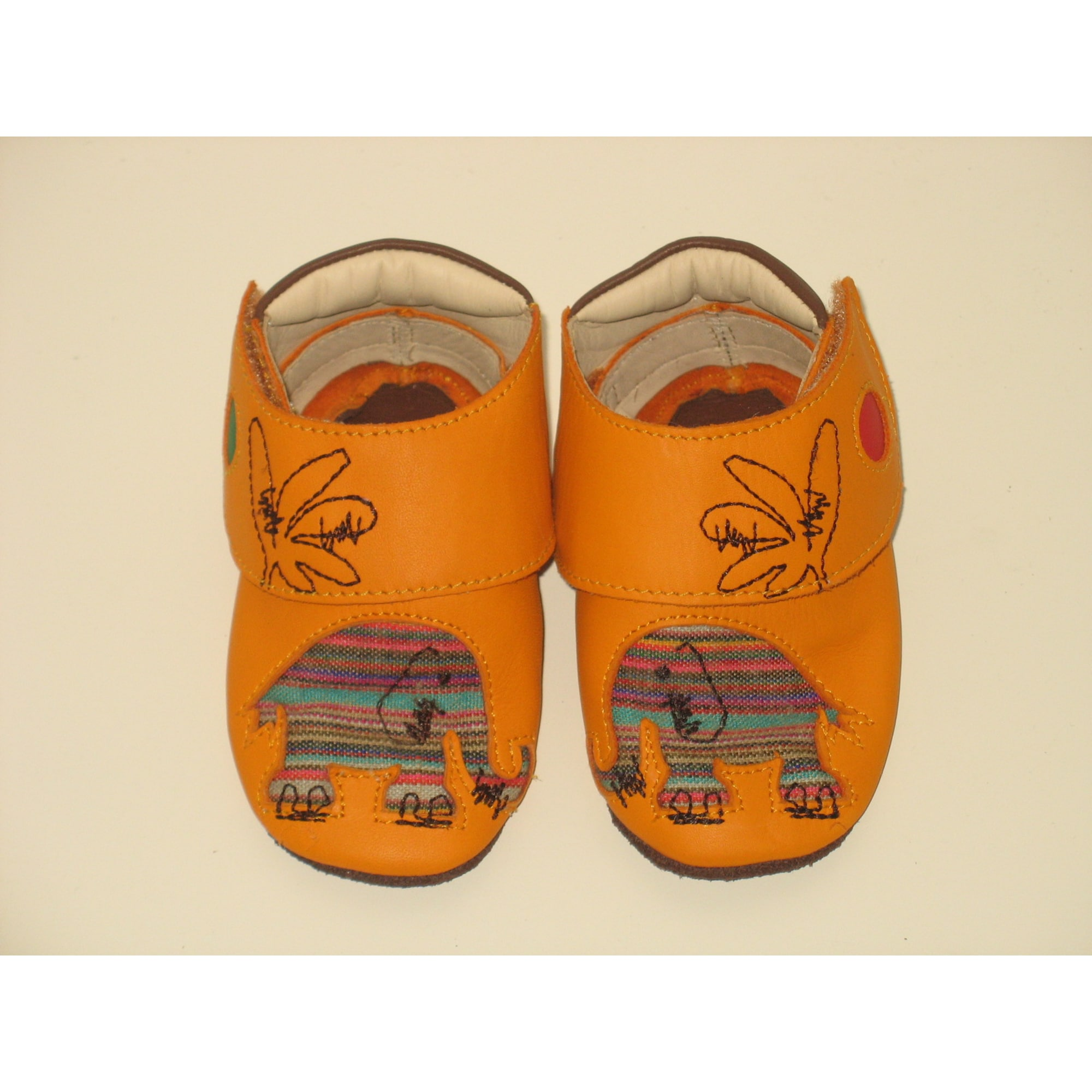 Chaussures à scratch KICKERS Orange