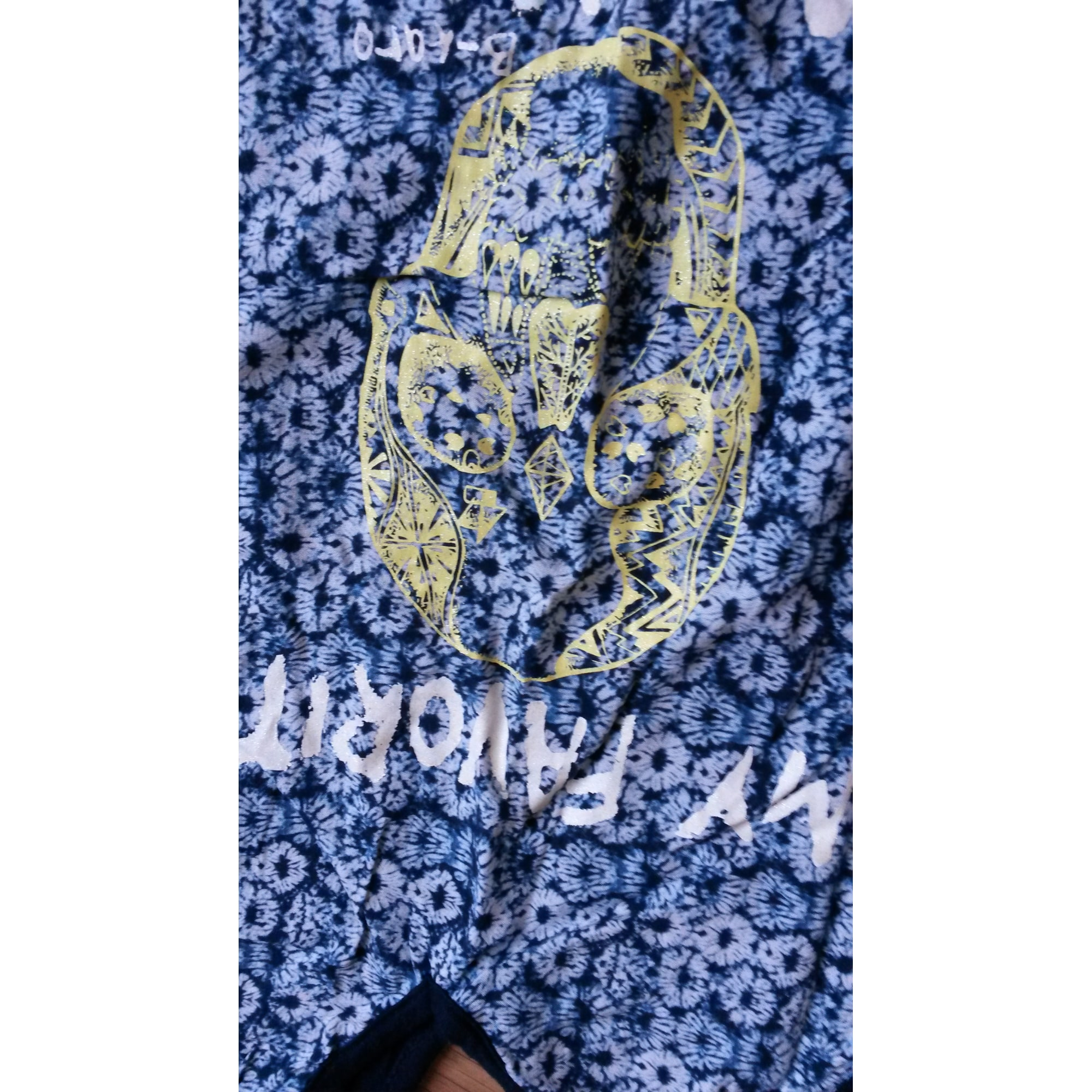 Top, Tee-shirt B-KARO Bleu, bleu marine, bleu turquoise