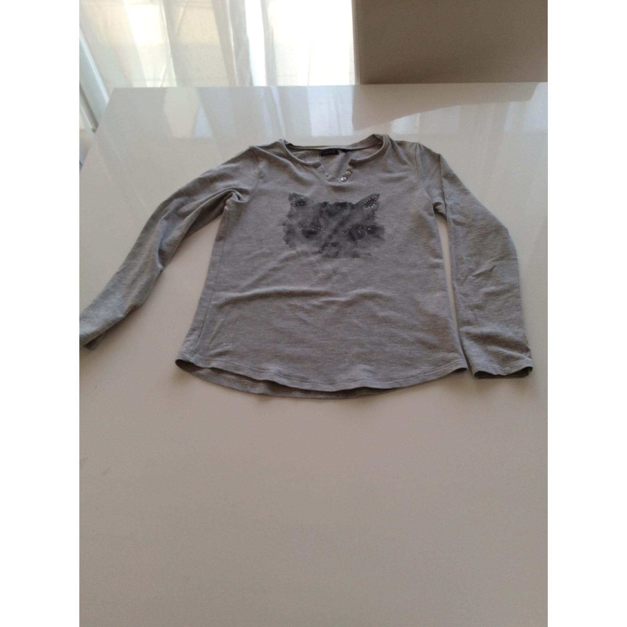 Top, Tee-shirt IKKS Argenté, acier