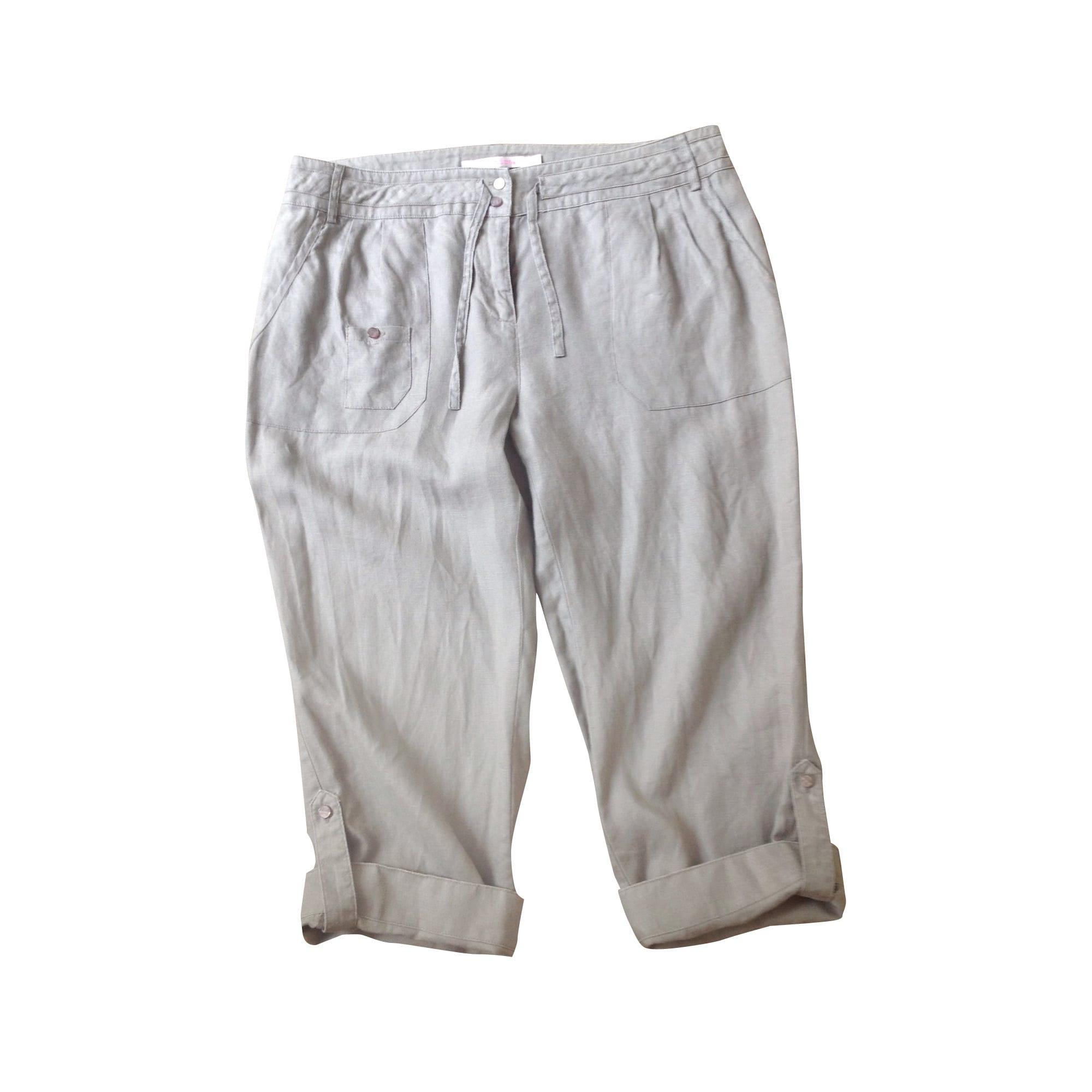 Pantalon droit BERENICE Beige, camel