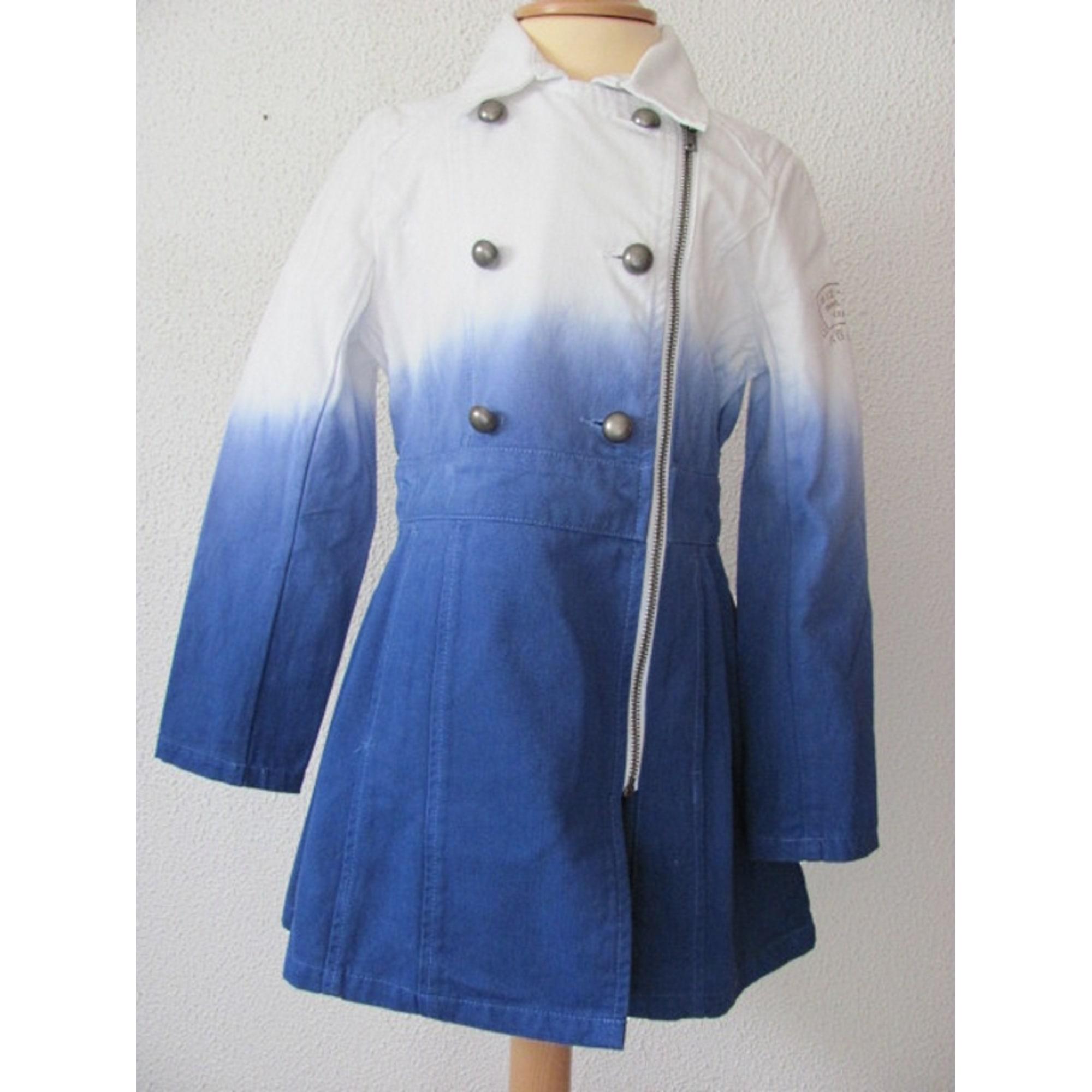 Manteau IKKS Dégradé blanc et bleu