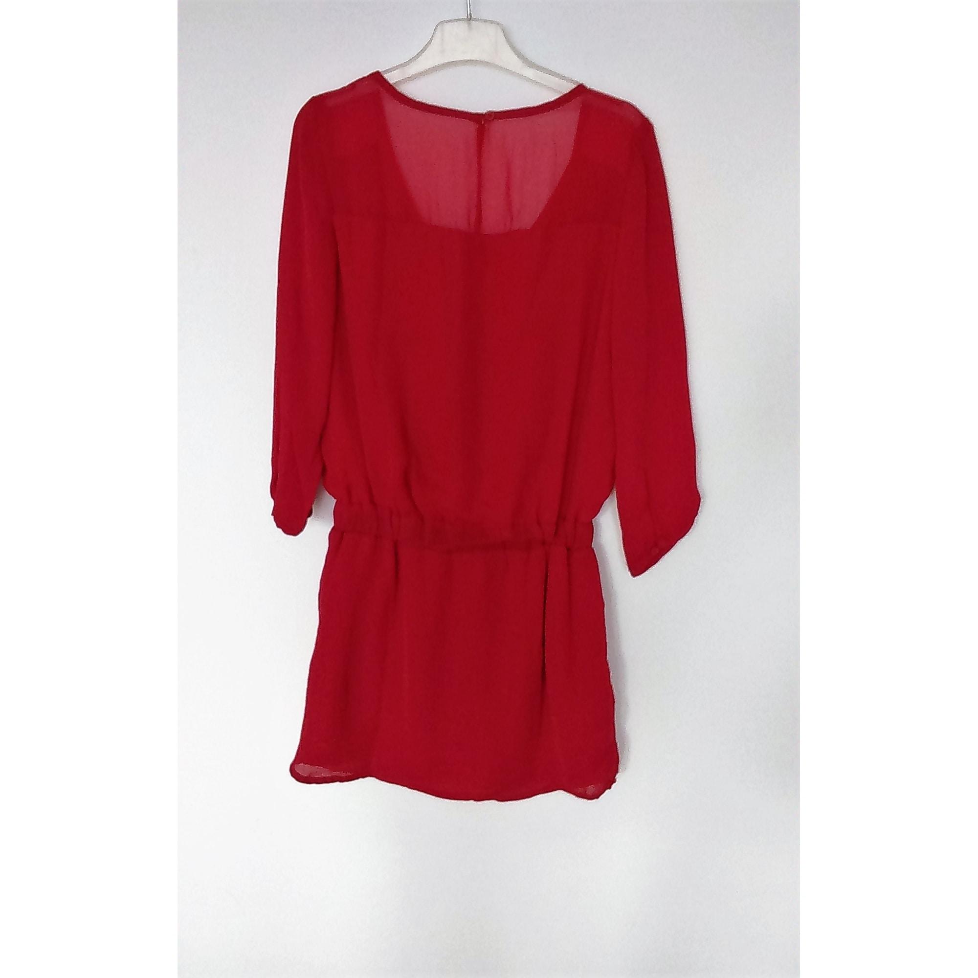 Robe tunique BERSHKA 36 (S, T1) rouge - 6380126
