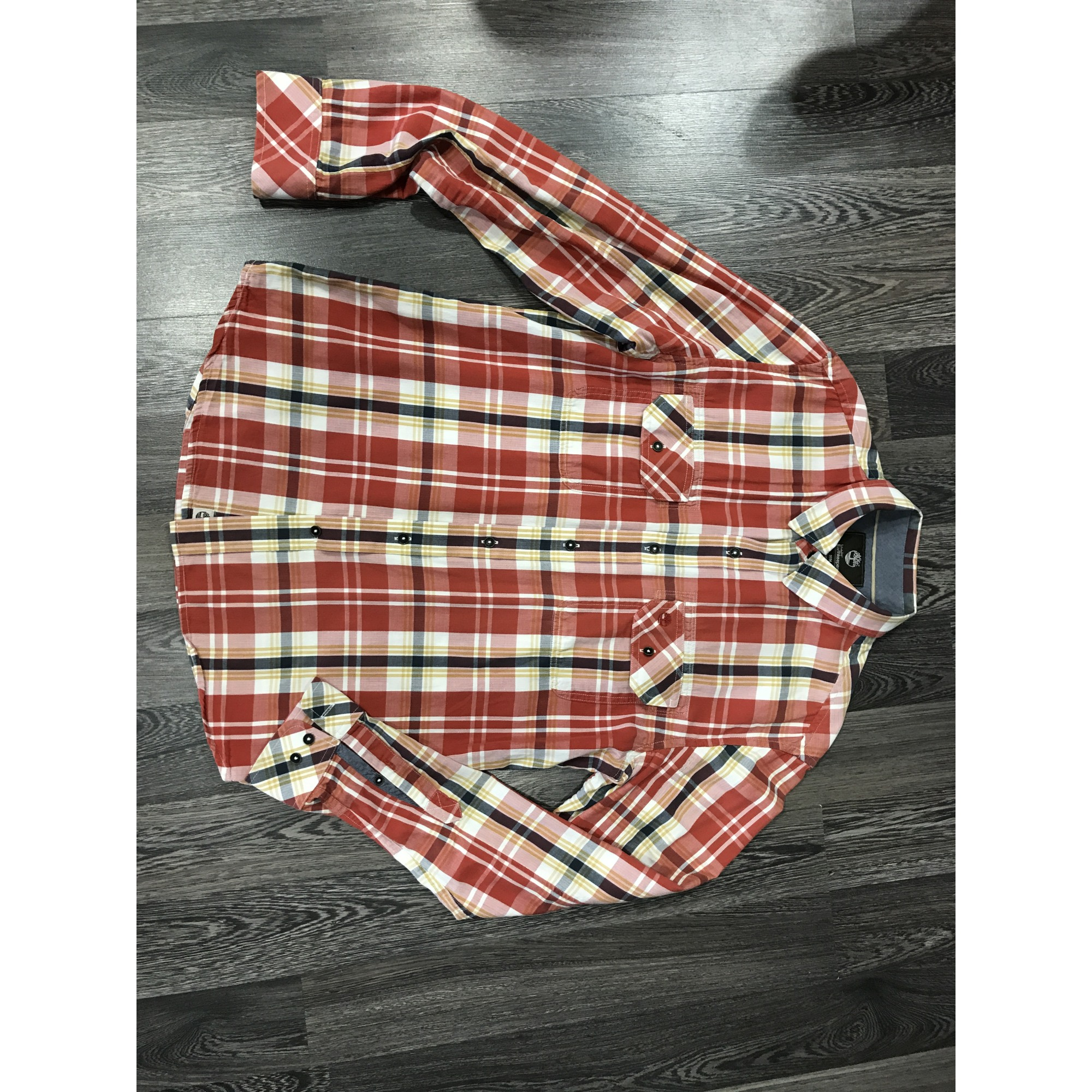 chemise timberland rouge