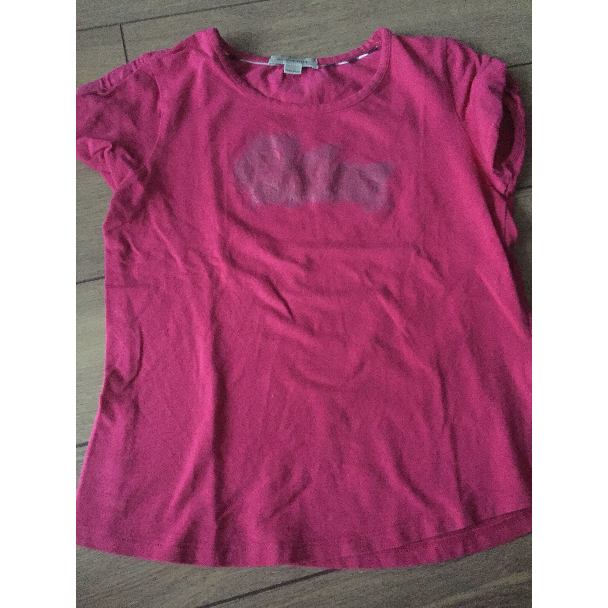 Top, Tee-shirt BURBERRY Rose, fuschia, vieux rose