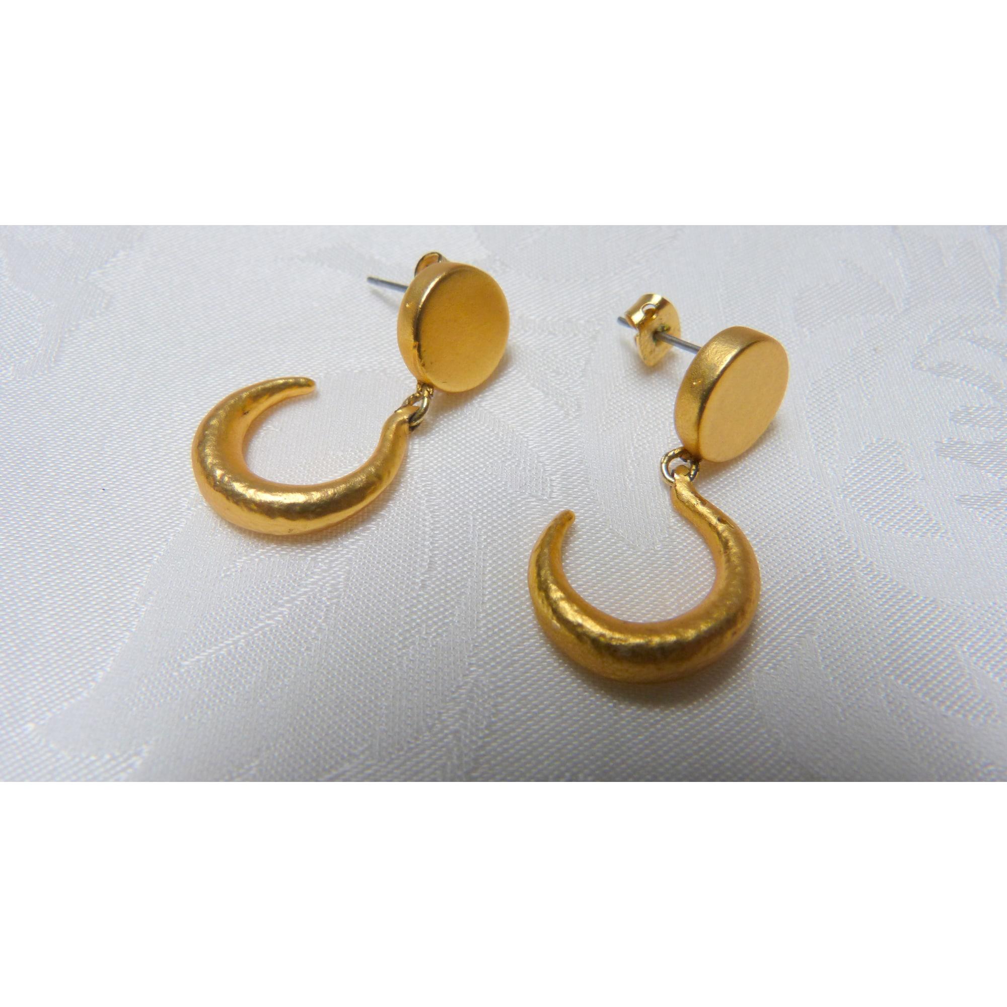 Boucles d'oreilles MARC LABAT métal doré