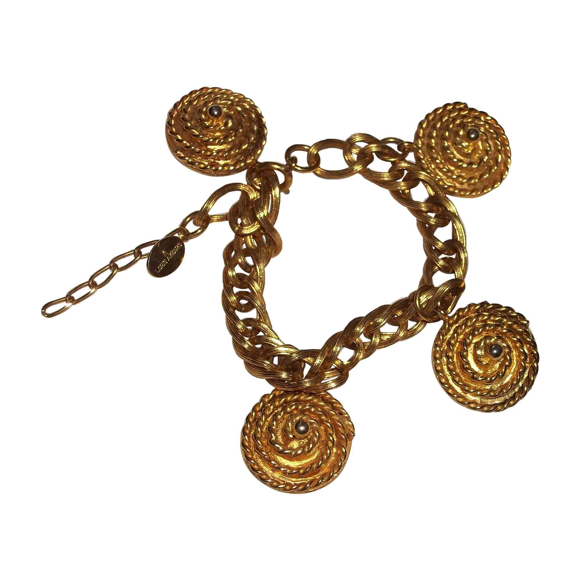 Bracelet AZZARO métal doré
