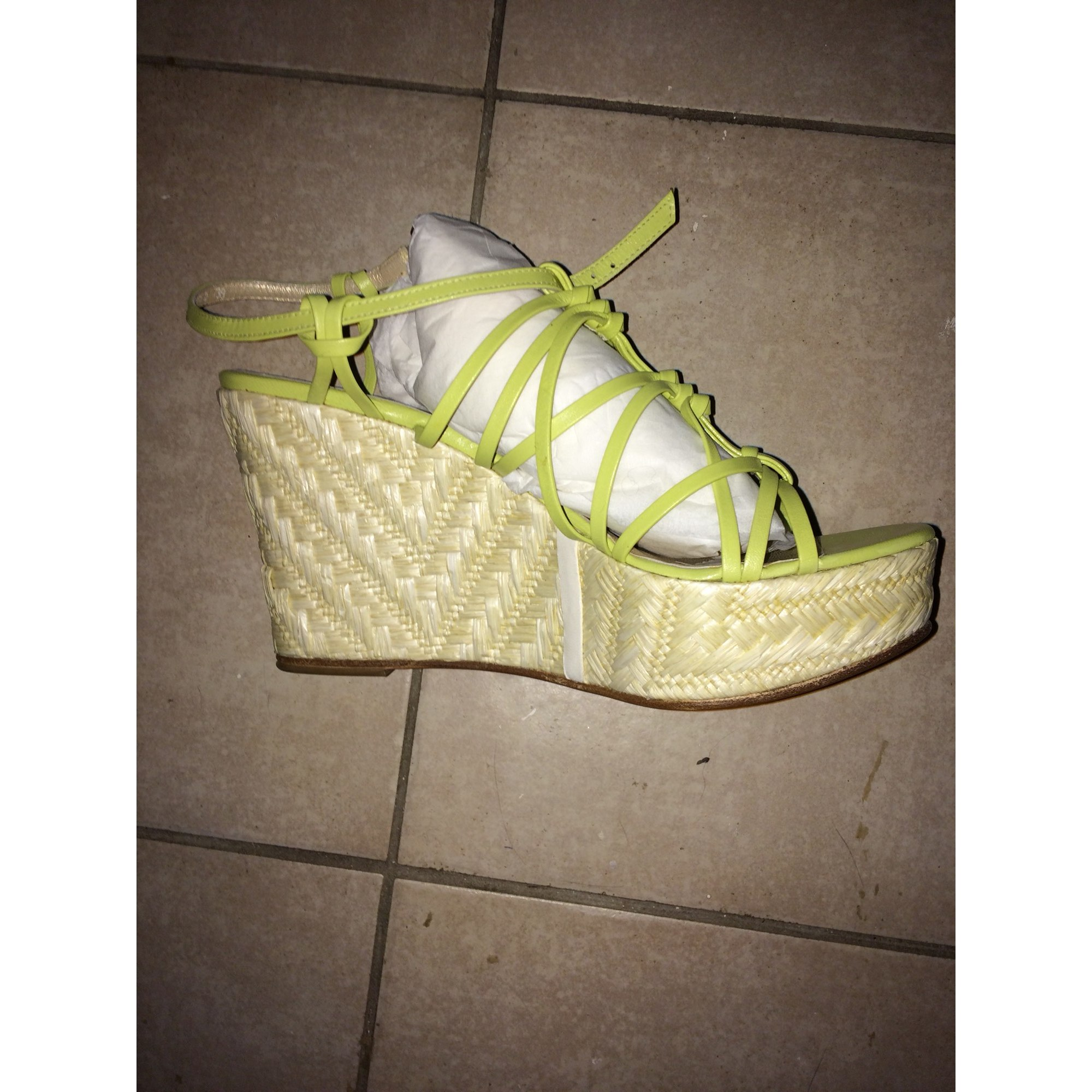 Sandales compensées PAUL & JOE SISTER Vert